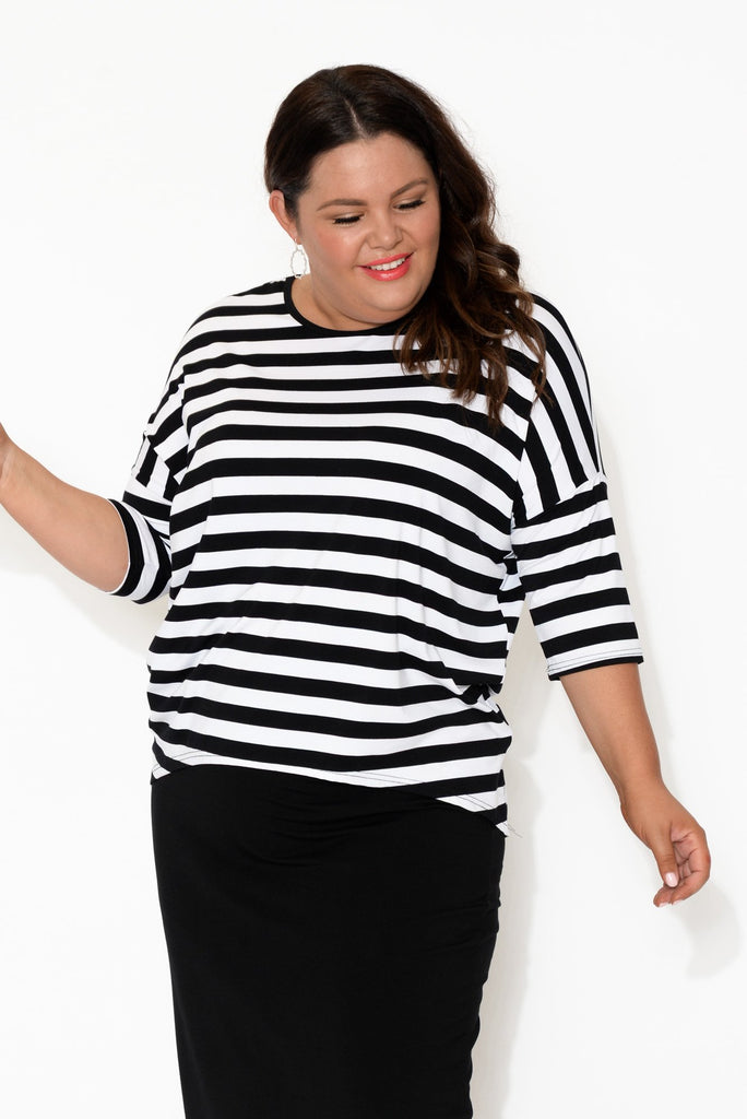 Esme Black Stripe Bamboo Top