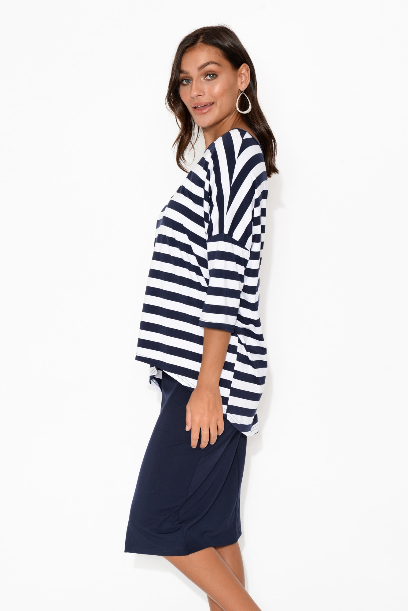 Esme Navy Stripe Bamboo Top