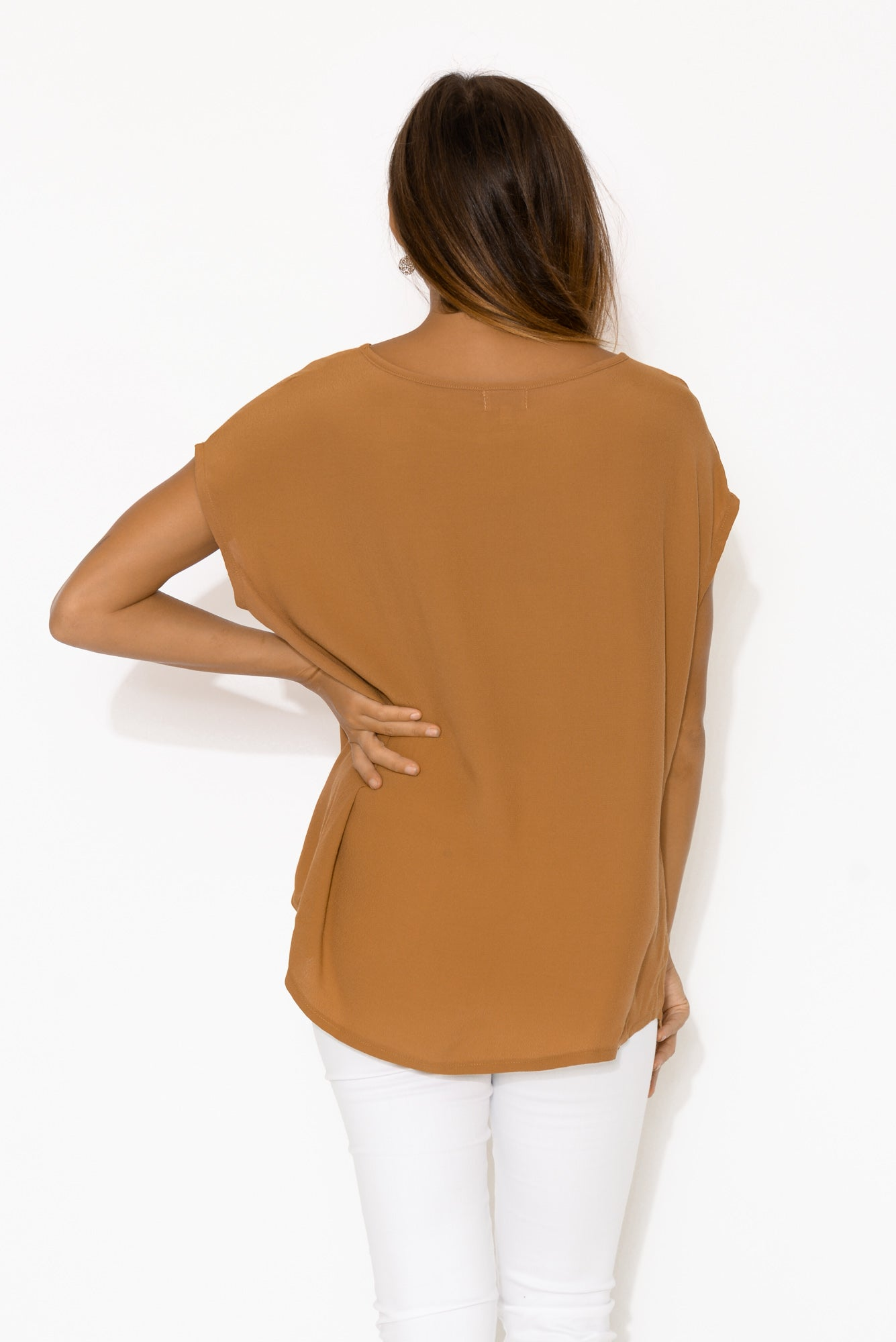 Essi Tan Shell Top