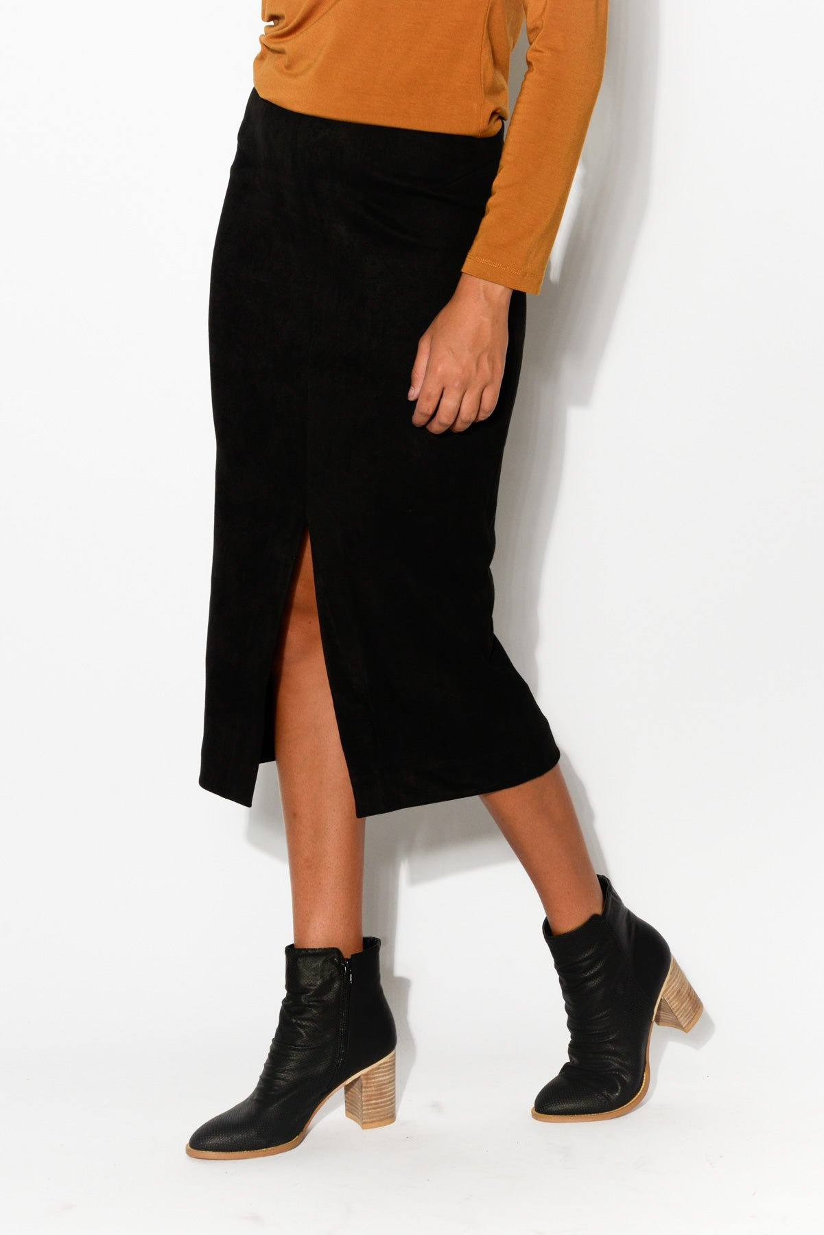 Esther Black Midi Skirt - Blue Bungalow