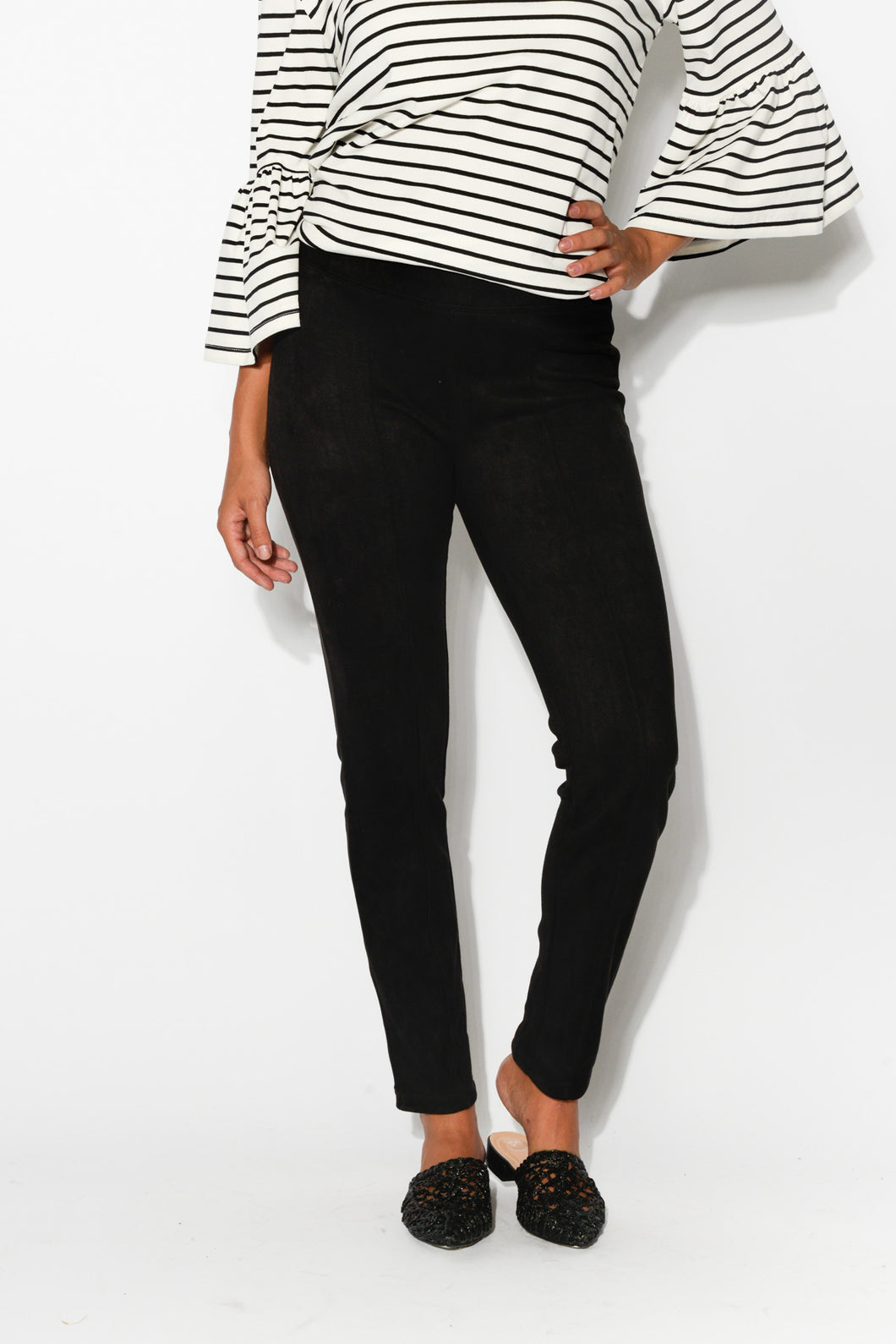 Esther Black Tailored Pant - Blue Bungalow