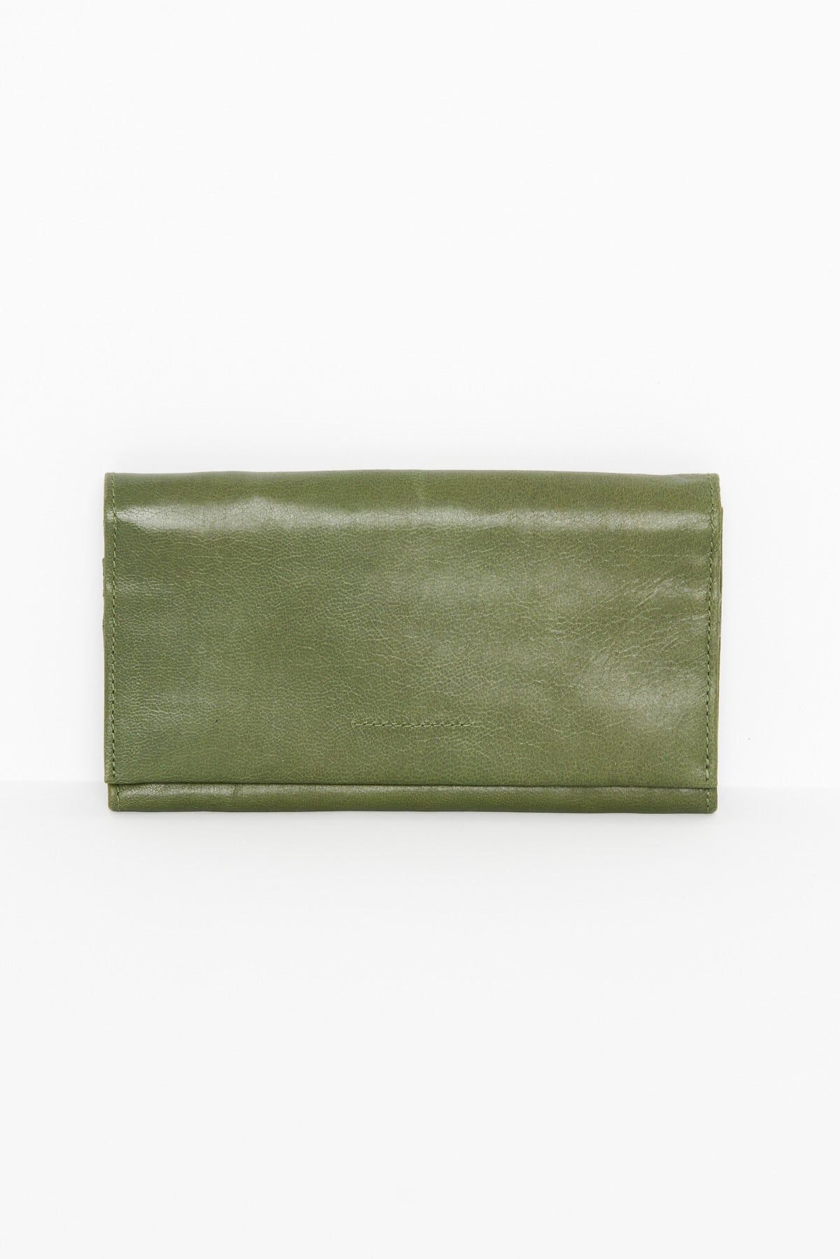 Eva Olive Leather Wallet - Blue Bungalow