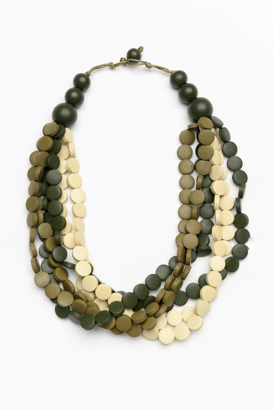 Freckles Green Beaded Necklace
