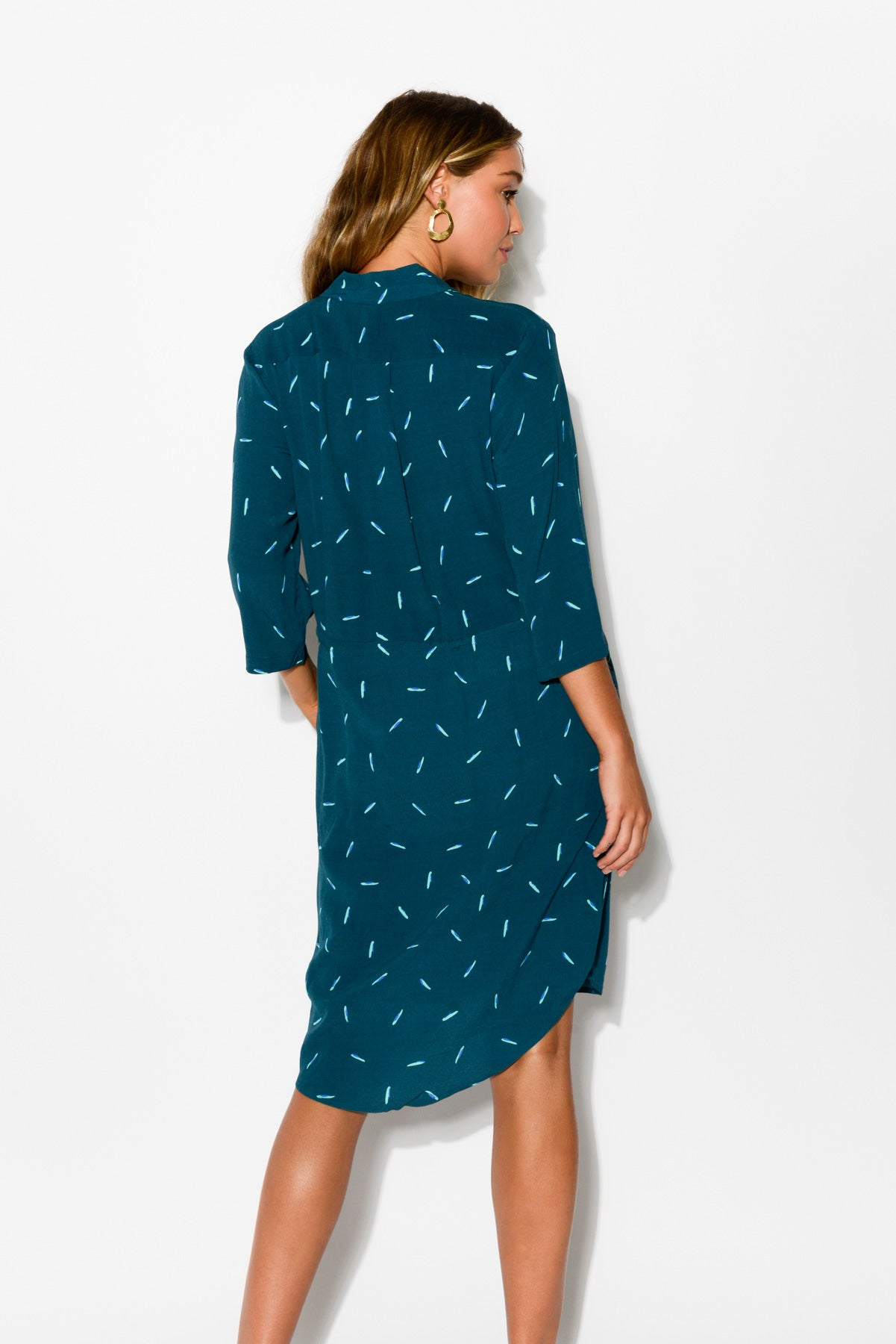 Sage Tie Green Dress - Blue Bungalow