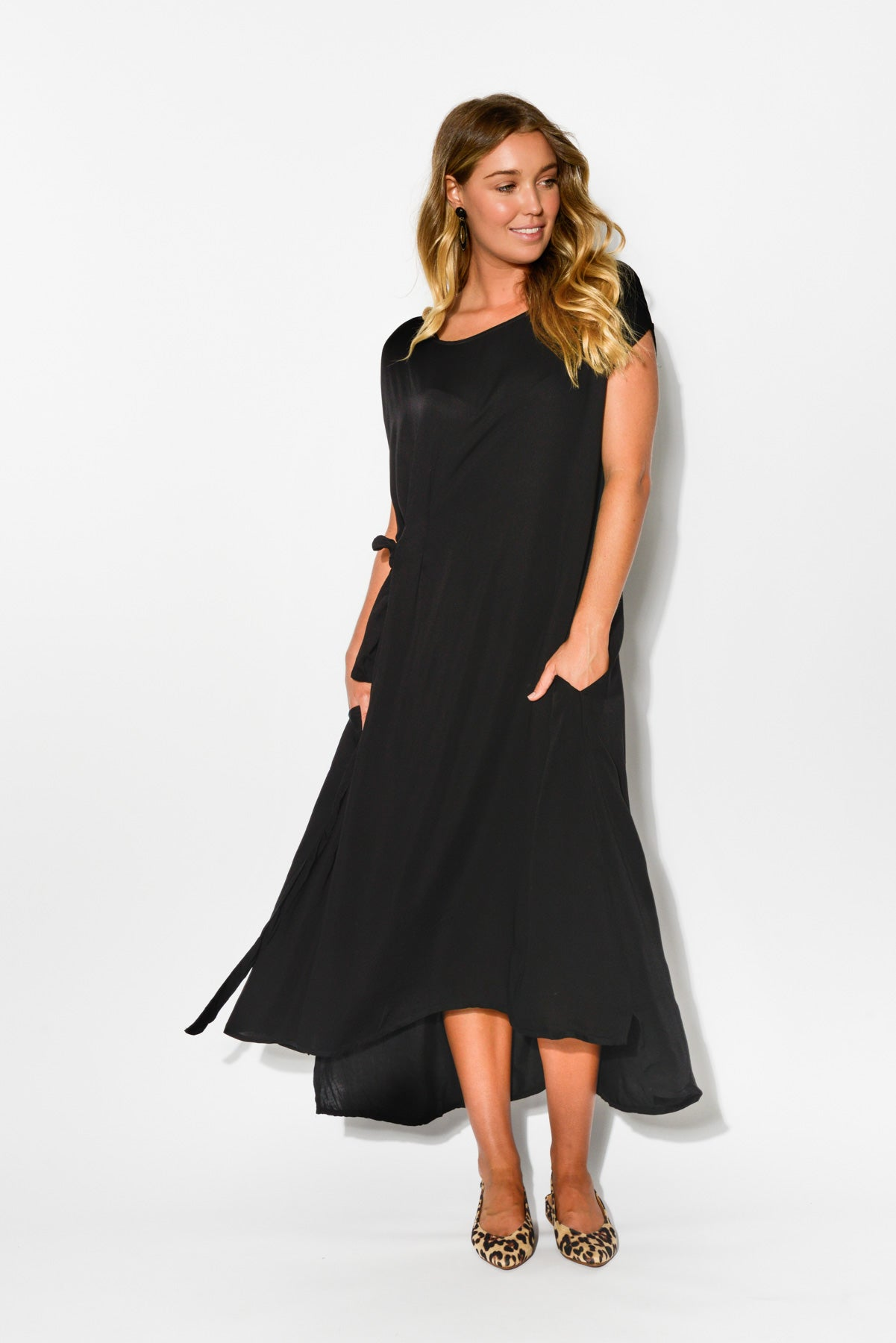 Charm Black Midi Dress - Blue Bungalow ... 79358924f