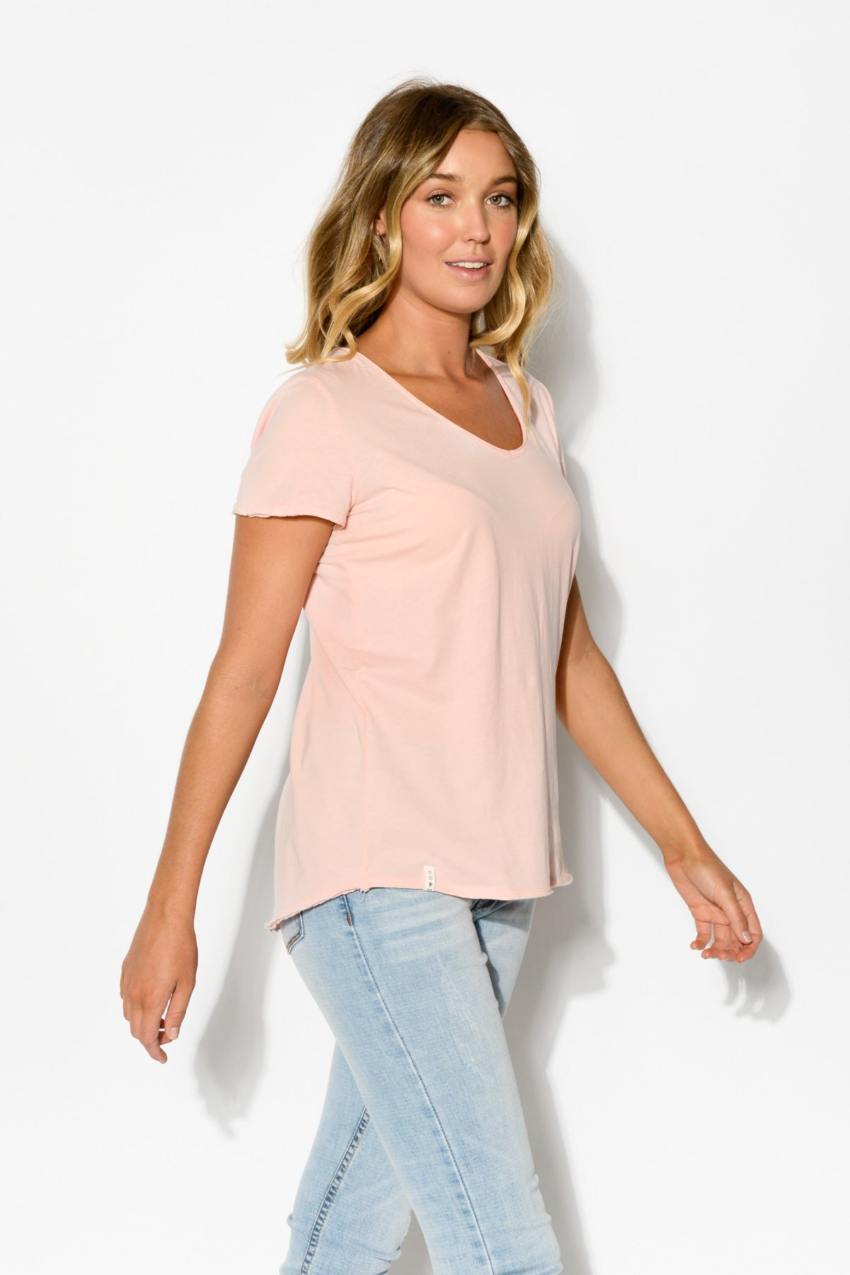 Fundamental Pink Cotton Tee - Blue Bungalow