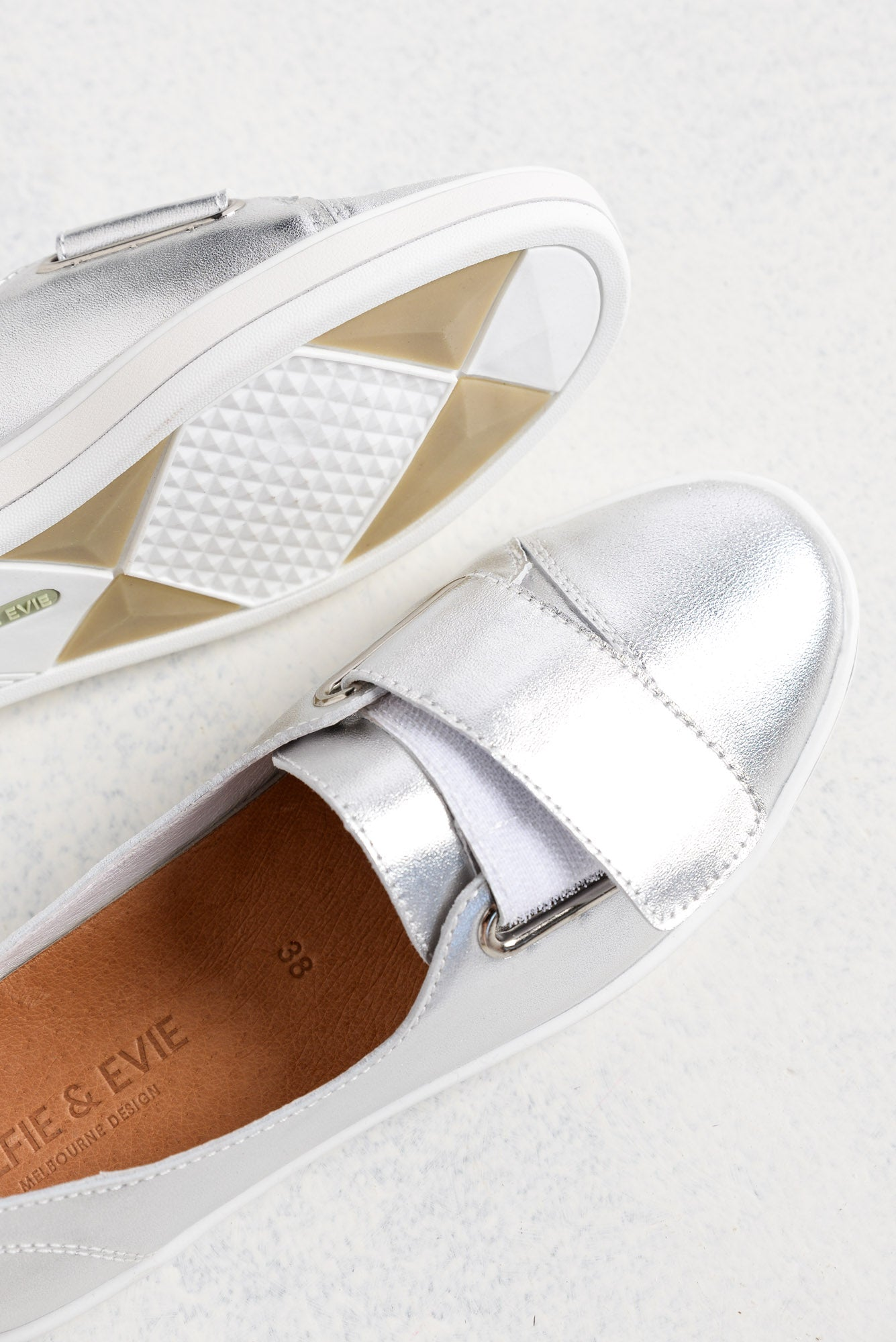Gale Silver Metallic Leather Sneaker