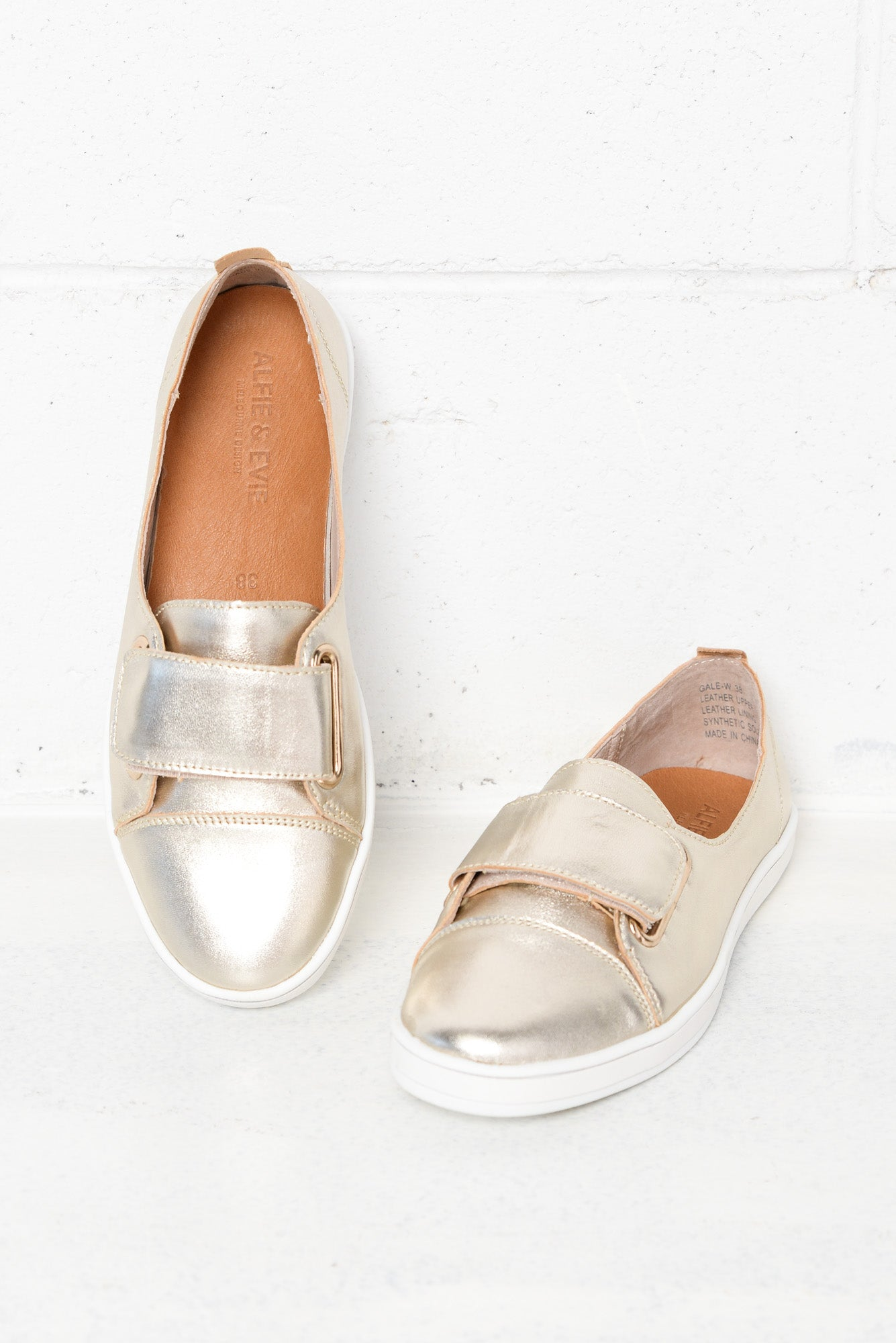 Gale Gold Metallic Leather Sneaker