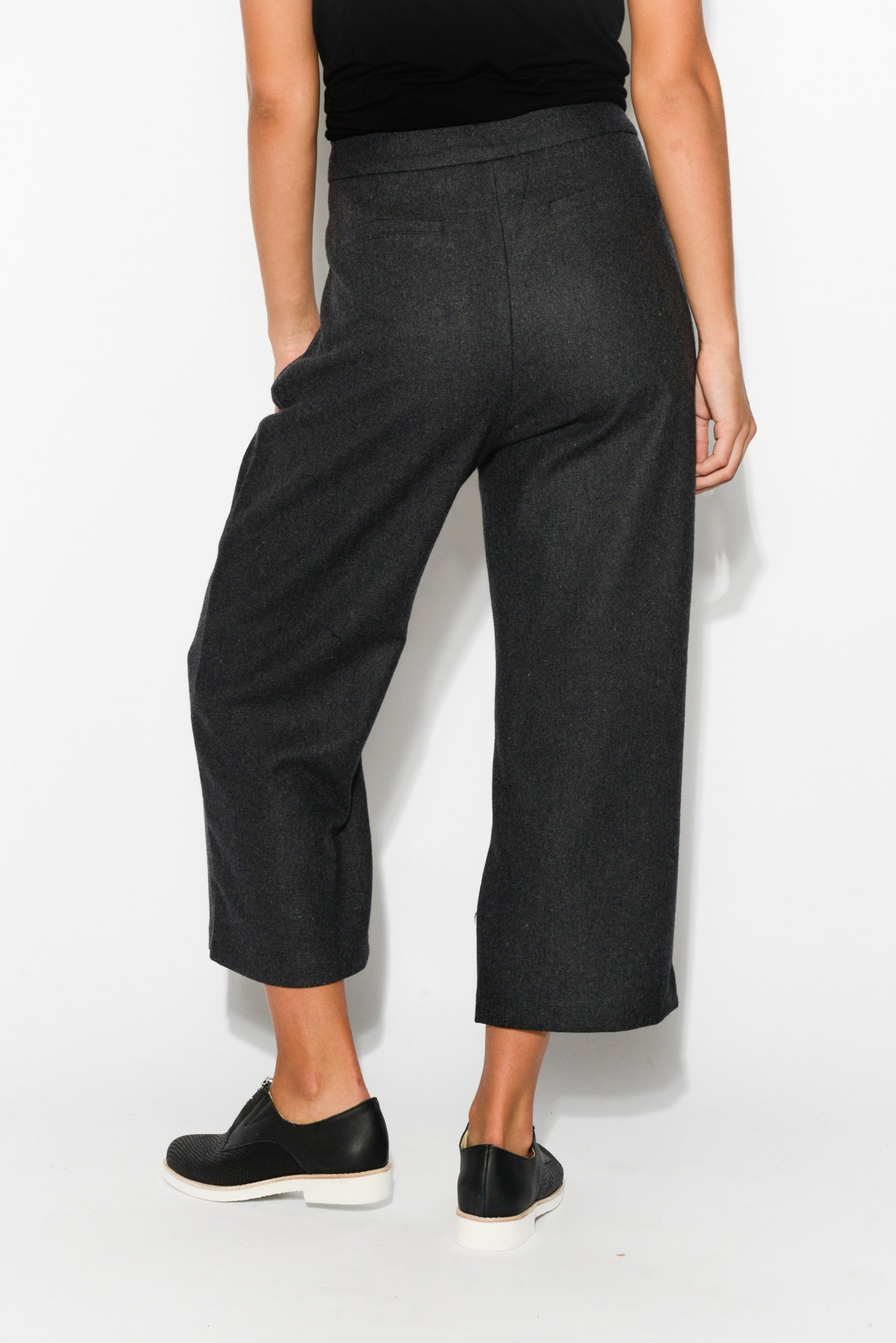 Georgia Charcoal Wool Blend Pant - Blue Bungalow