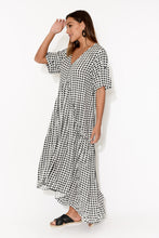 Gingham Check Peak Maxi Dress