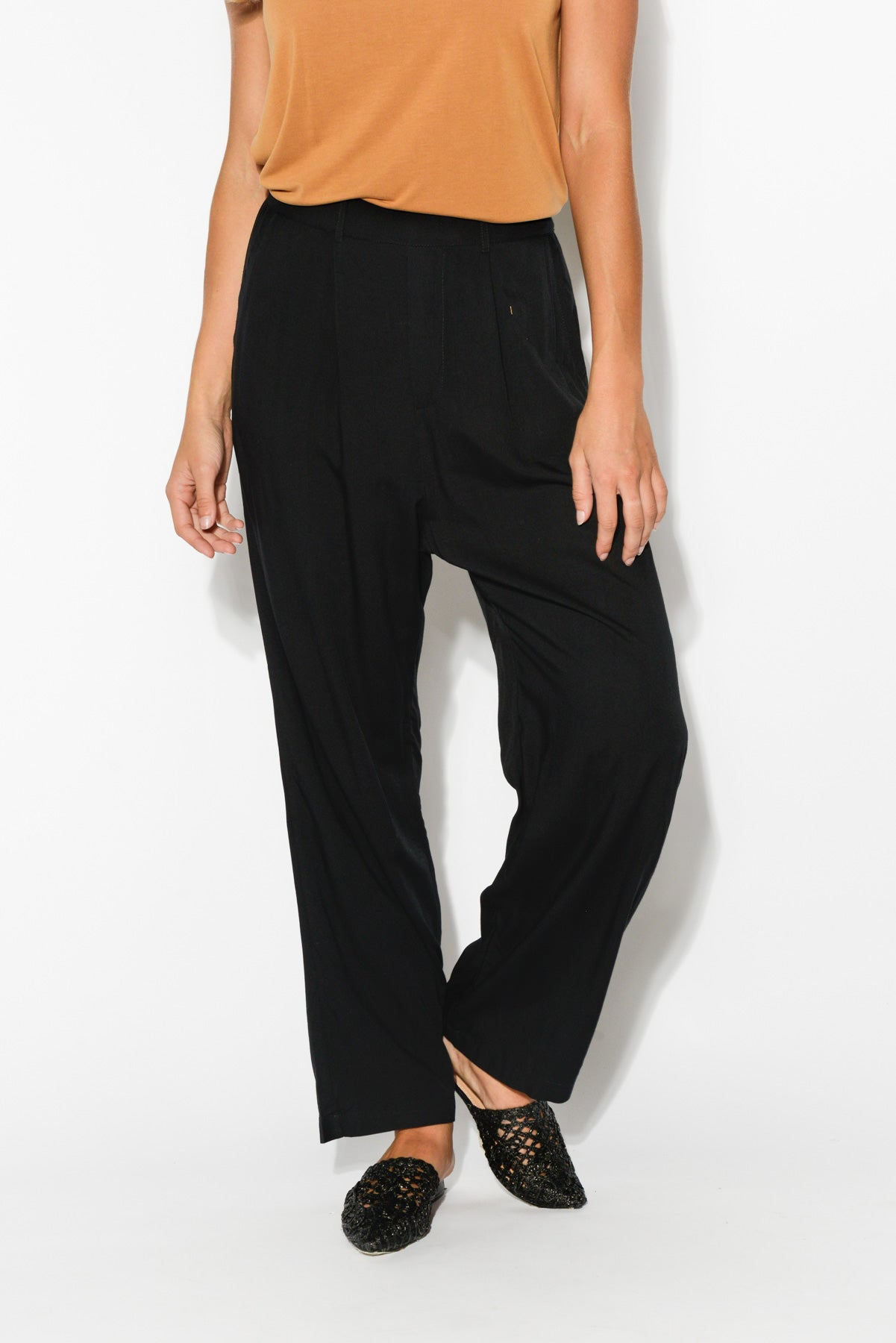 Ginny Black Straight Pant - Blue Bungalow