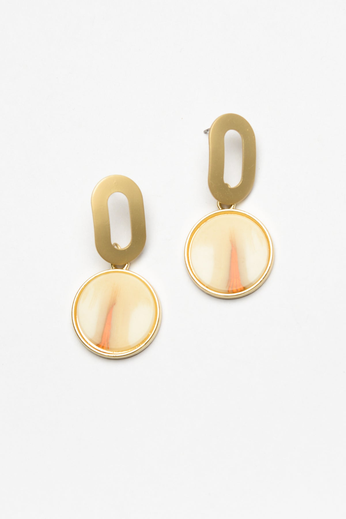 Grace Gold Marble Earring - Blue Bungalow