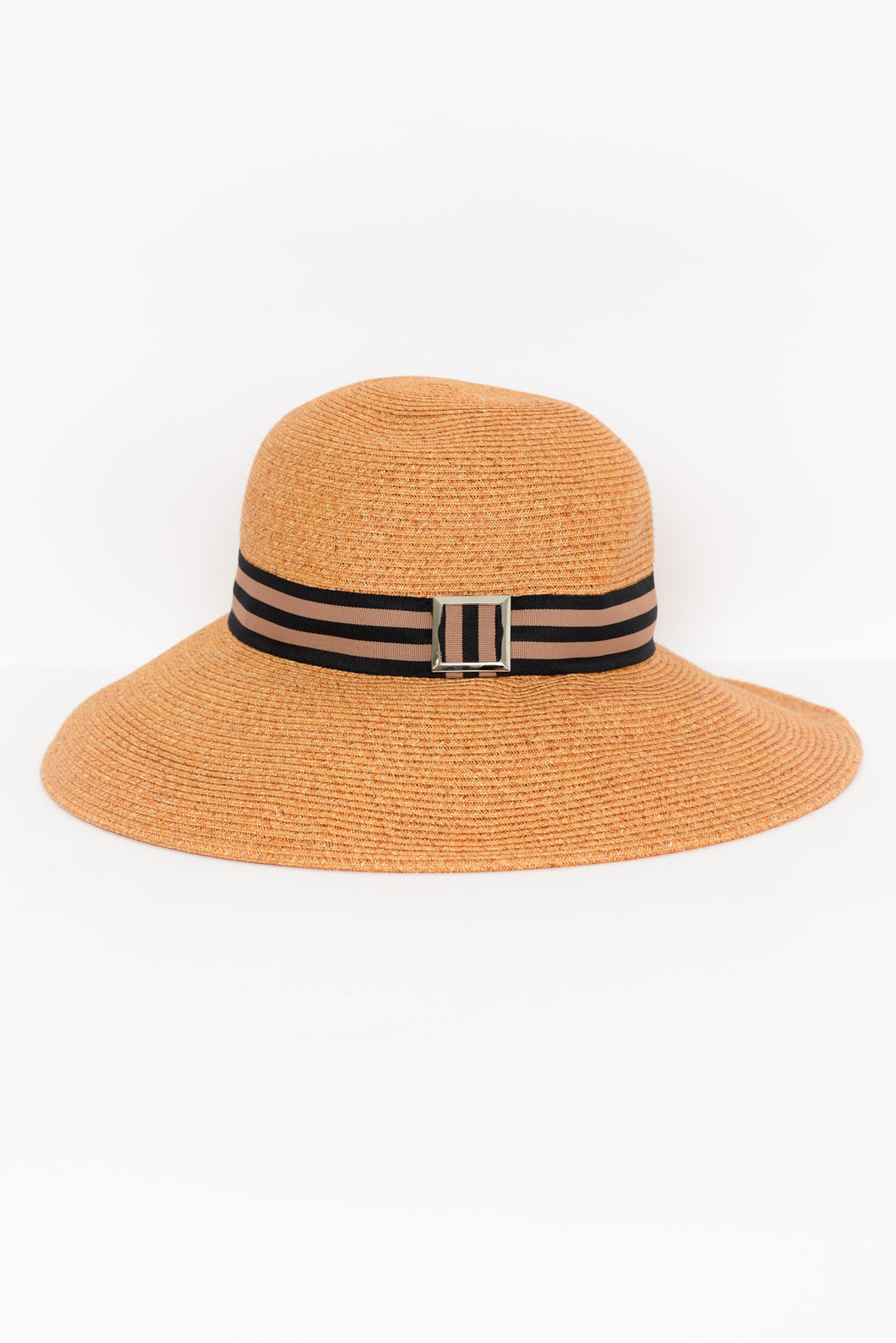 Grace Orange Buckle Hat