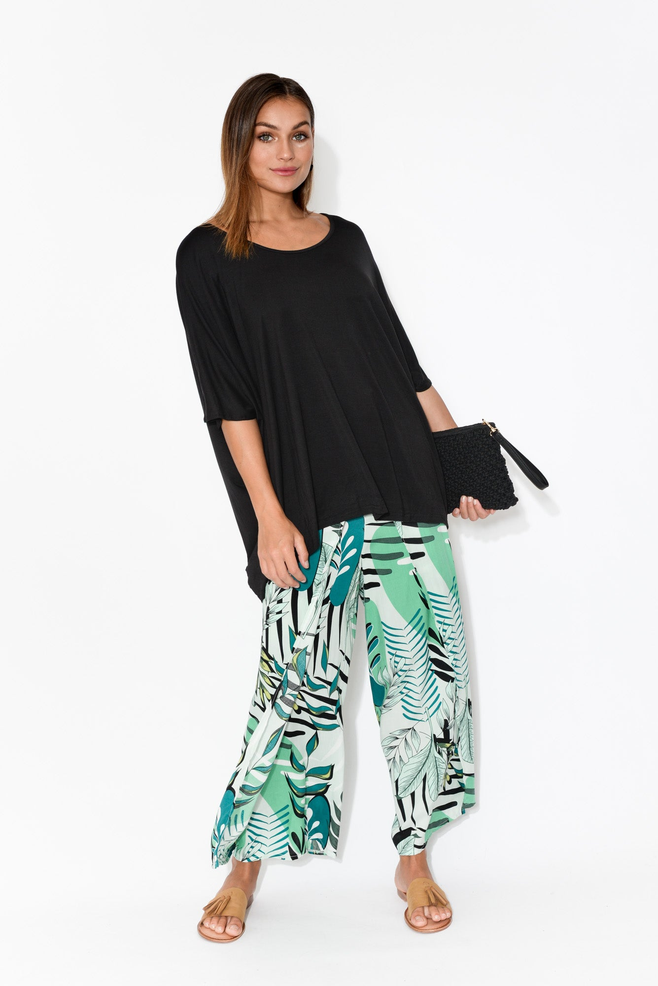 Green Palm Wrap Pant
