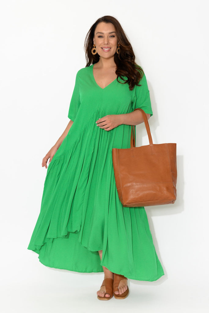 Green Peak Maxi Dress