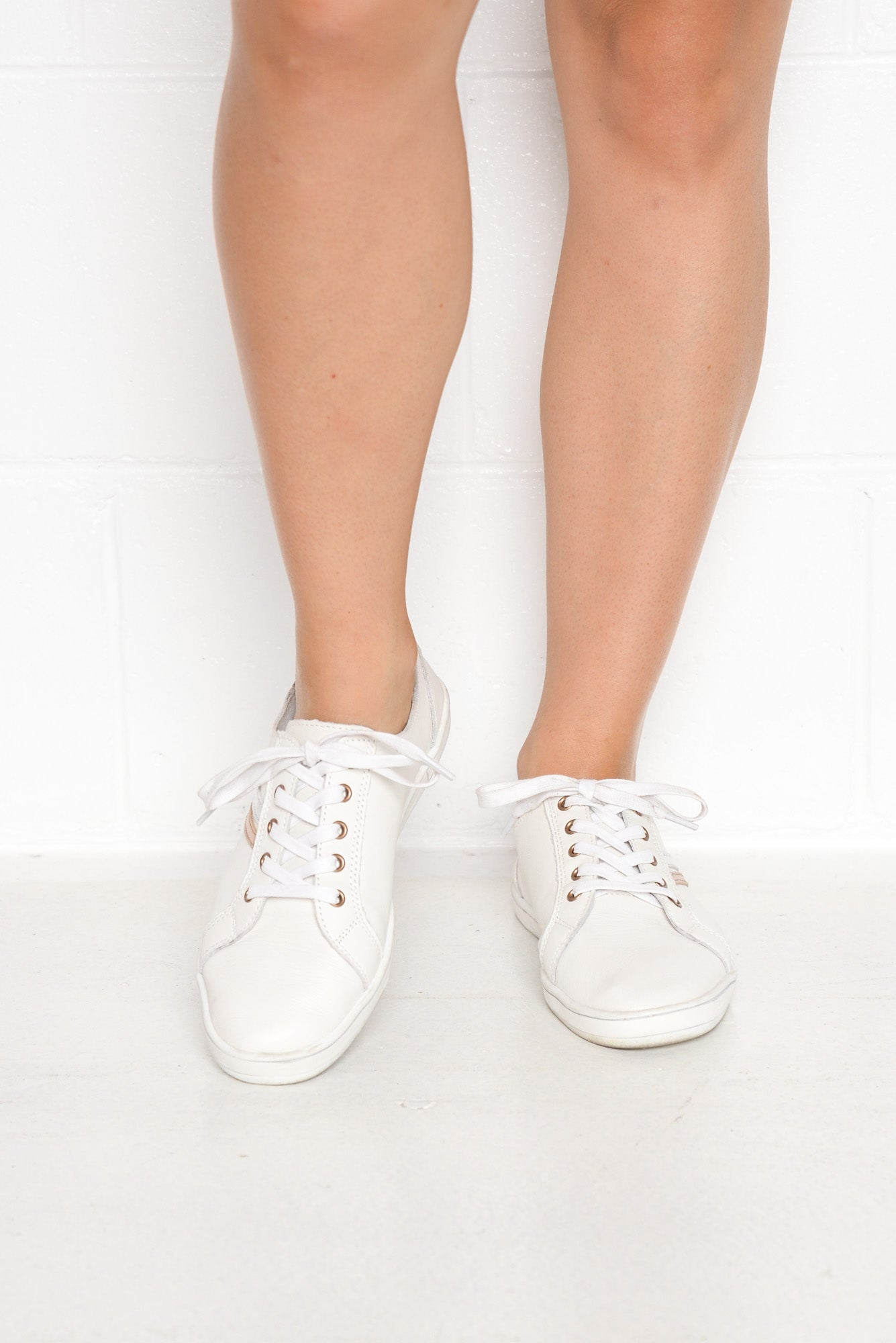 Gretchen White Leather Sneaker
