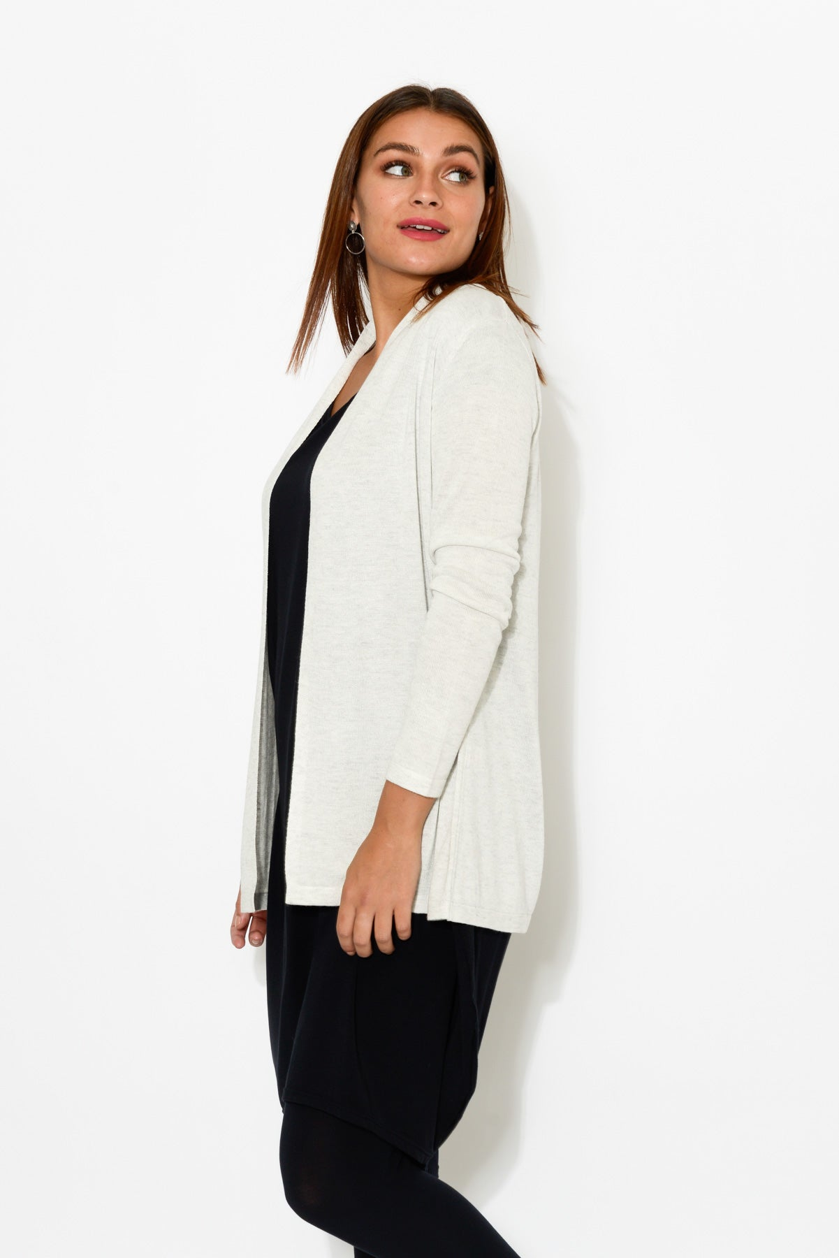 Grey Bamboo Wool Knit Cardigan - Blue Bungalow
