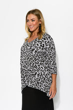 Grey Leopard Hi Lo Top - Blue Bungalow