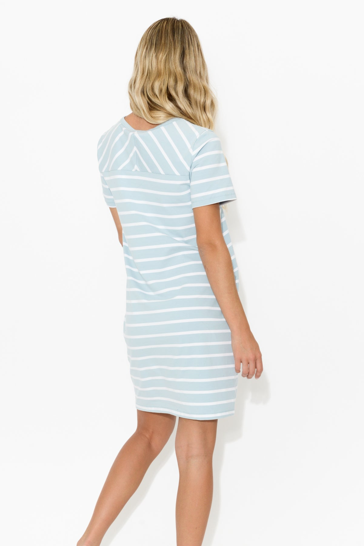 Gwen Blue Stripe Dress