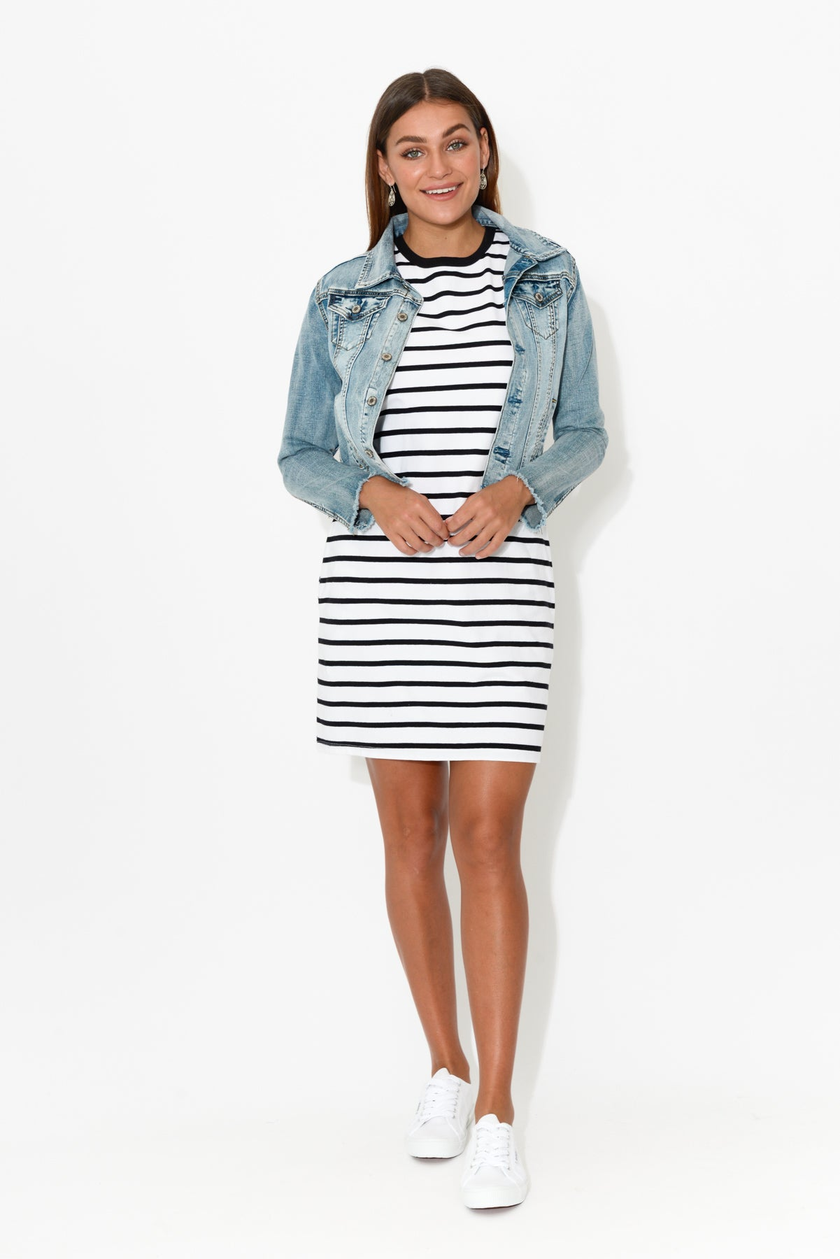 Gwen White Stripe Dress