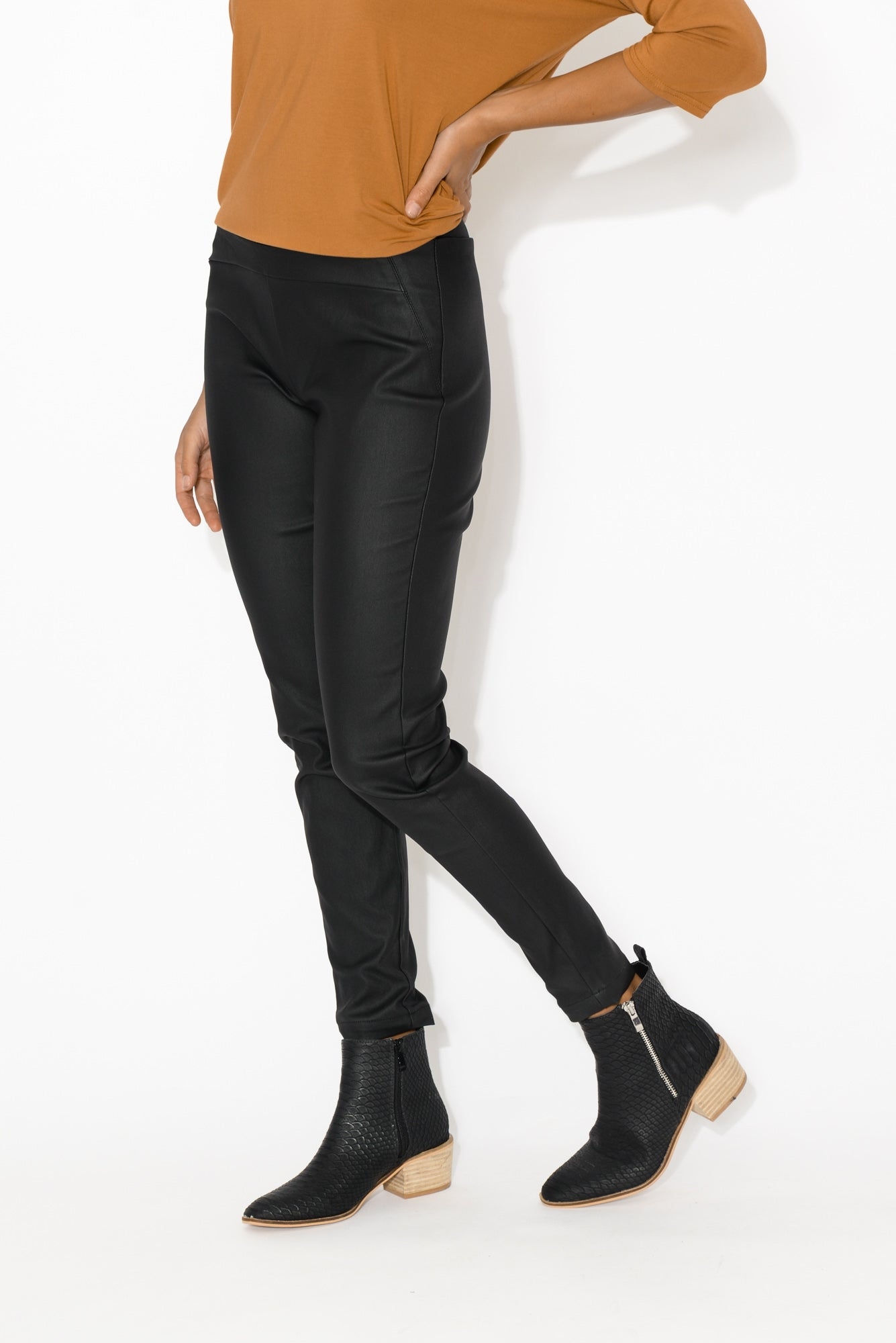 Hallie Black Wax Jeans