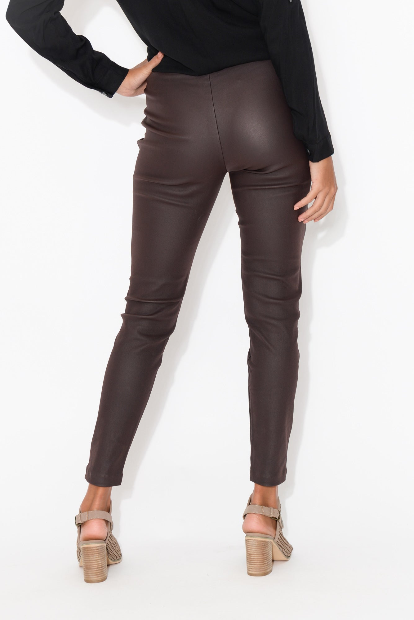 Hallie Burgundy Wax Jean