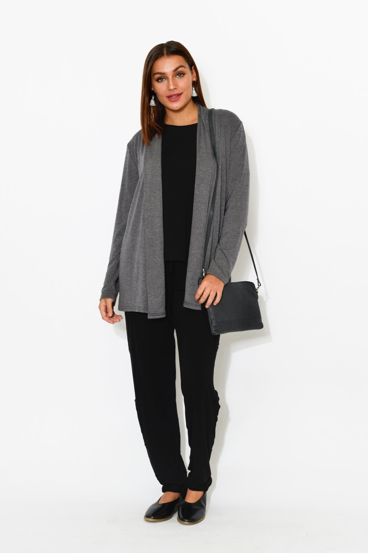 Harper Grey Cotton Cardigan - Blue Bungalow