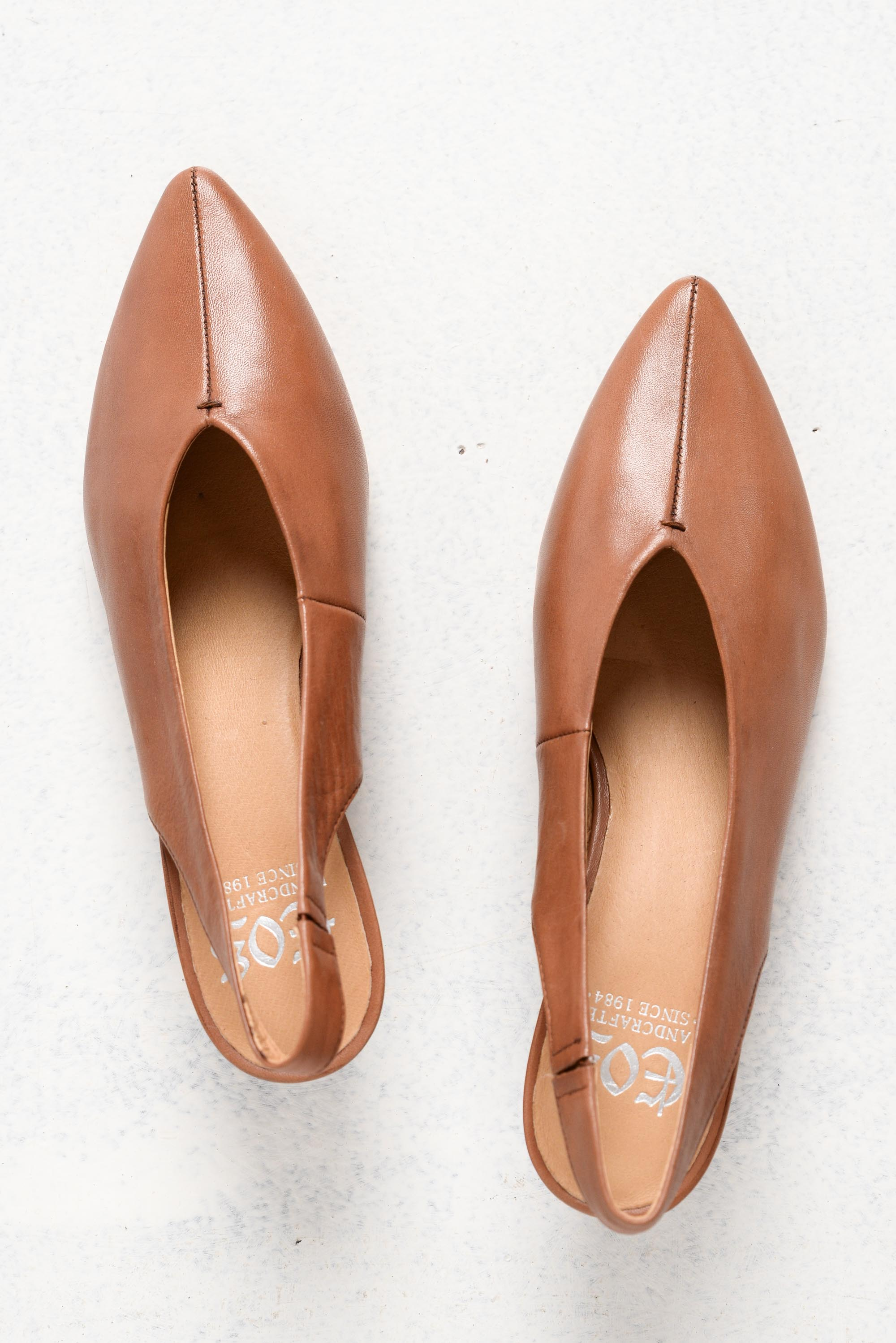 Hattie Brandy Leather Slingback Pump