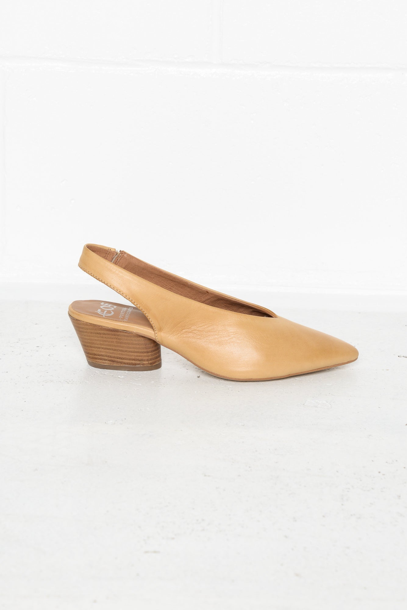 Hattie Tan Leather Slingback