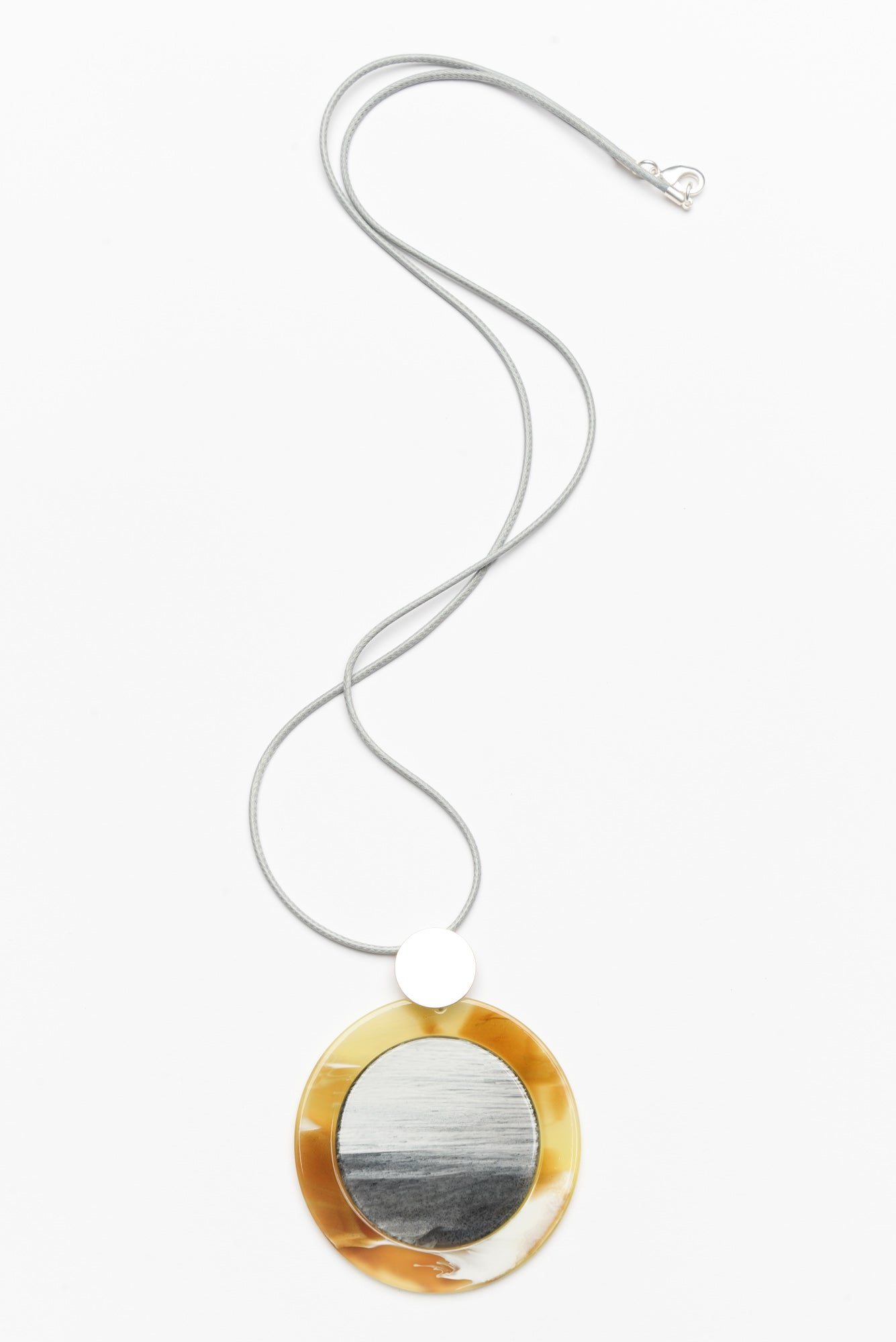 Helena Yellow Resin Necklace