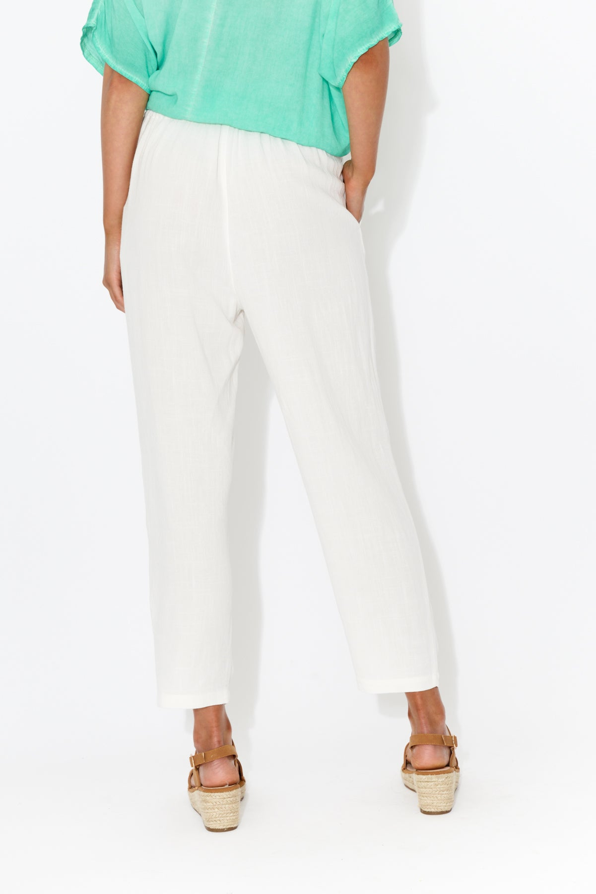 Imogen White Pant - Blue Bungalow