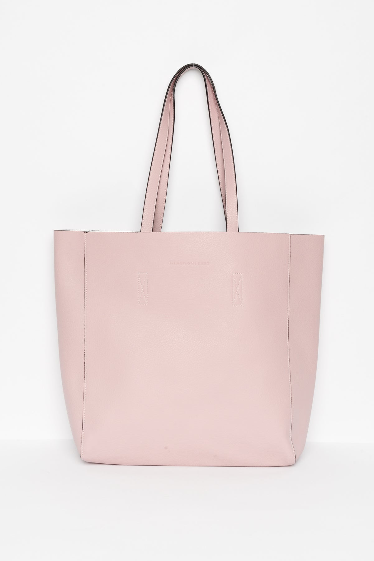 Ingrid Pink Vegan Leather Tote - Blue Bungalow