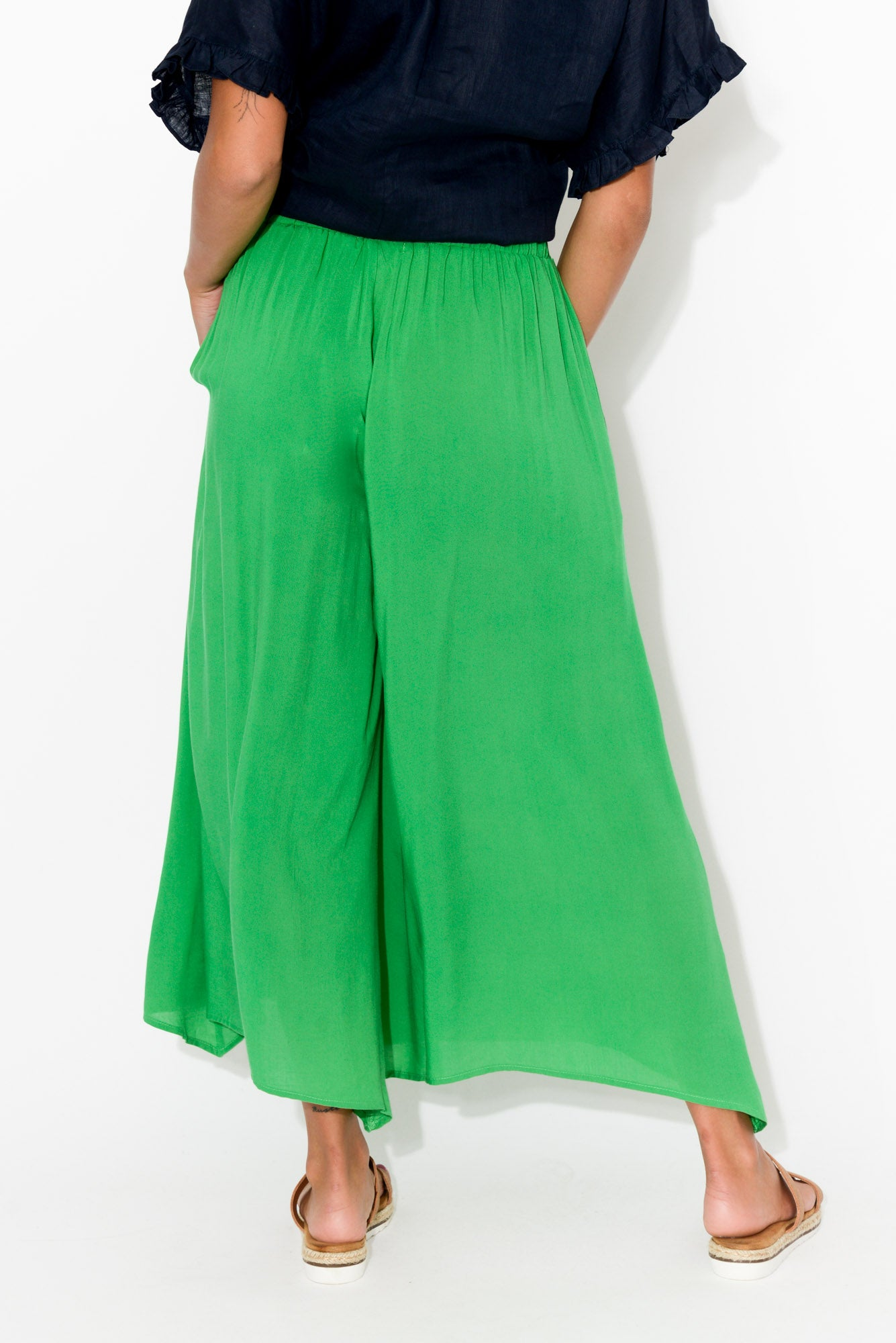 Isola Green Wide Leg Pant