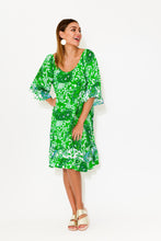 Jackie Green Paisley Ruffle Dress
