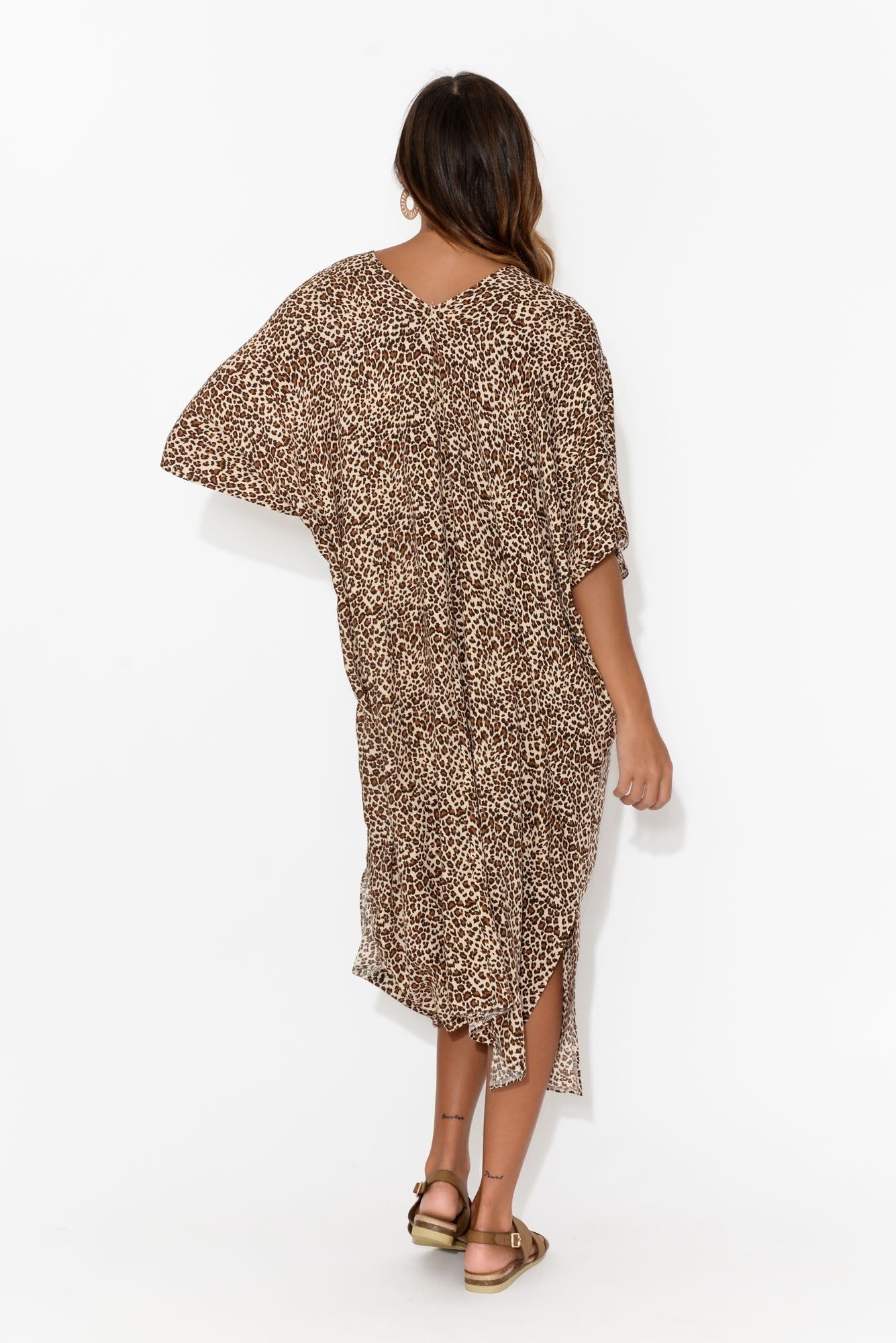 James Brown Leopard Midi Kaftan