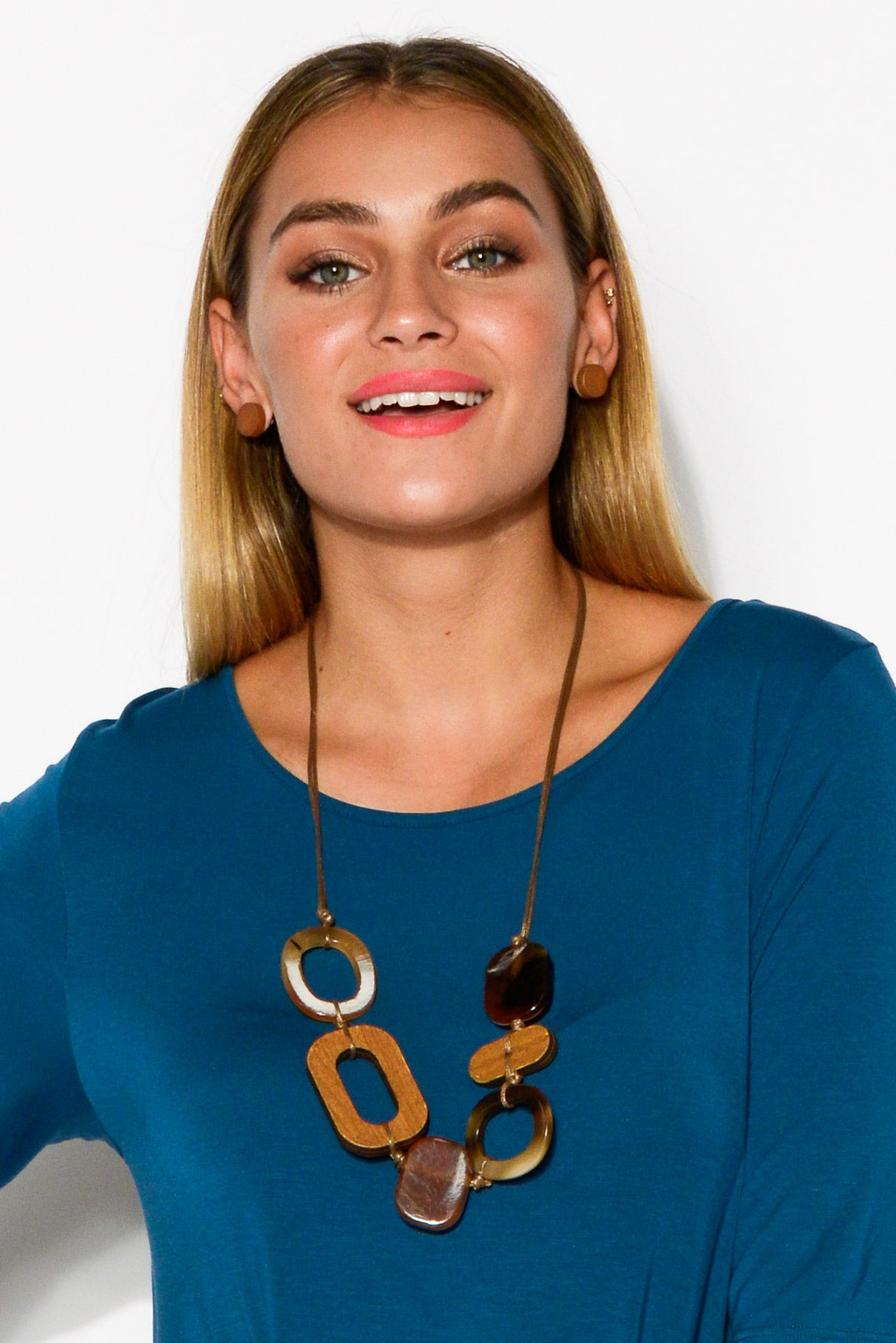Jamie Brown Multi Resin Necklace - Blue Bungalow