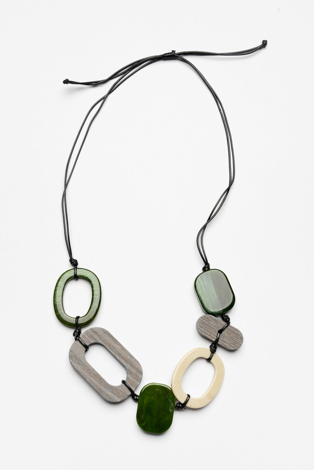 Jamie Green Multi Resin Necklace - Blue Bungalow