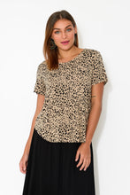 Janis Leopard Bamboo Tee - Blue Bungalow