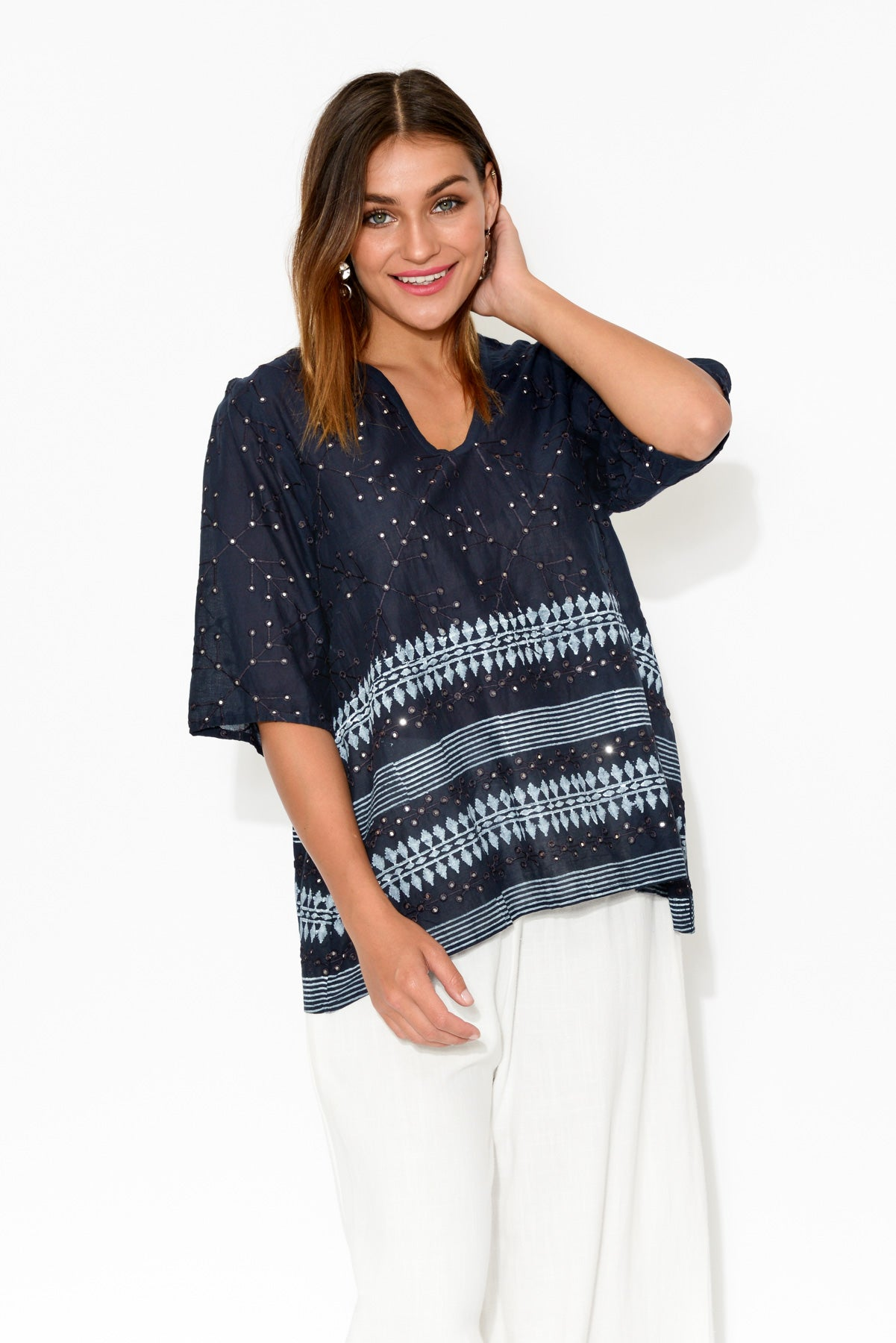 Jess Navy Top