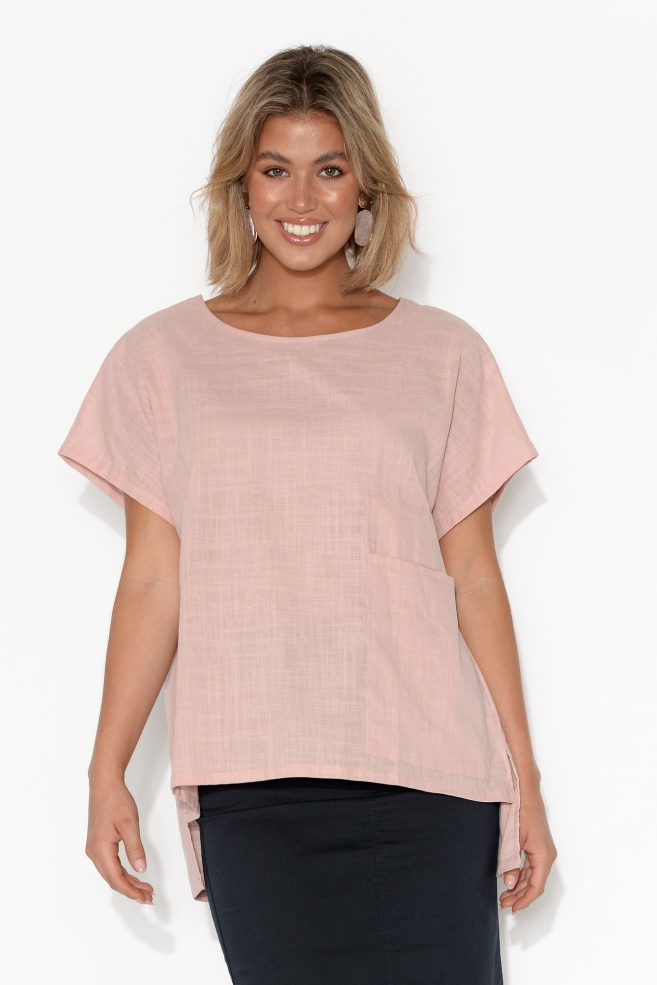 Jessica Blush Pocket Top