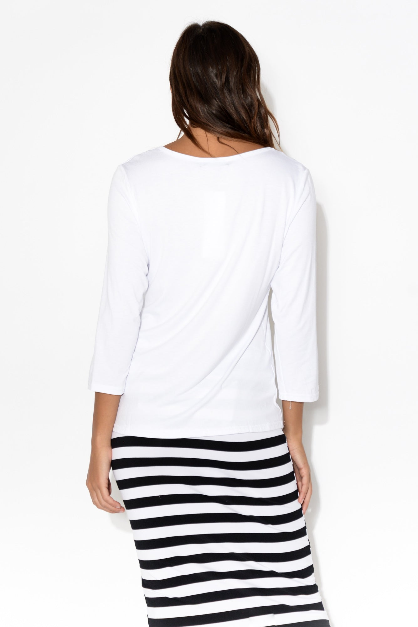 Joanna White 3/4 Sleeve Top