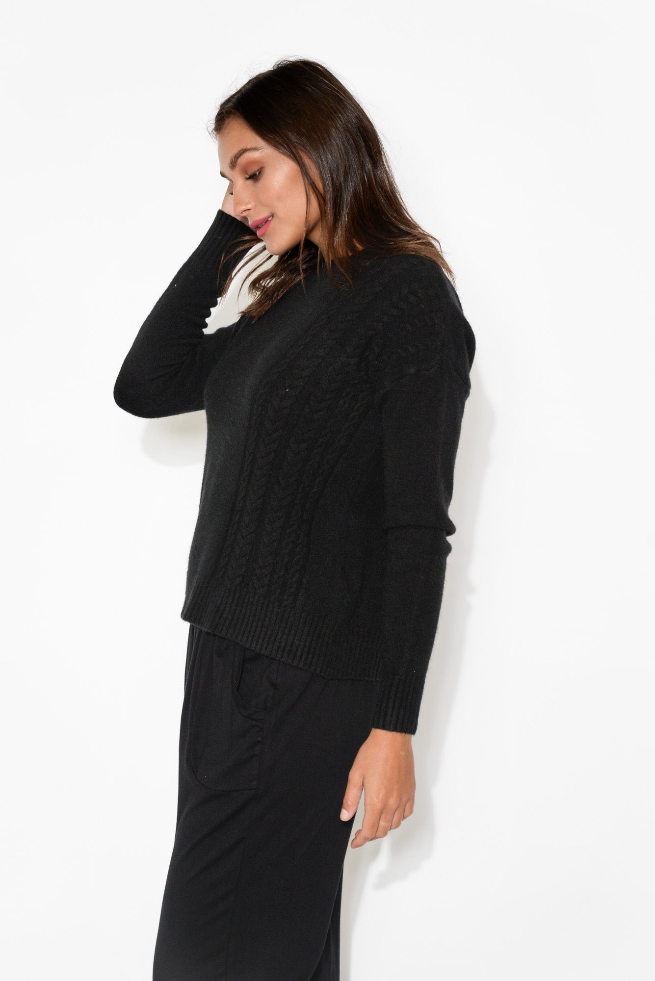 Judy Black Knitted Jumper