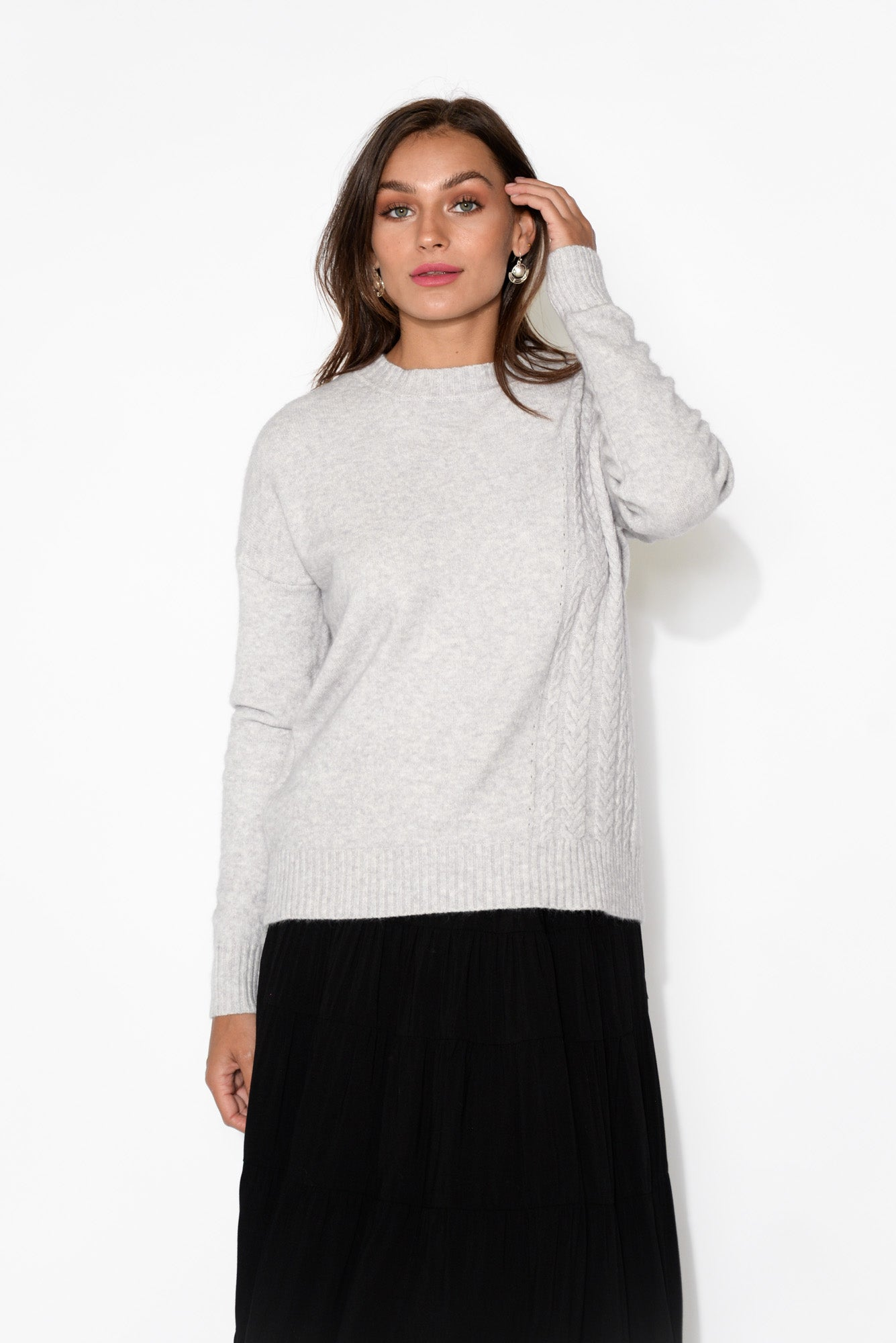 Judy Grey Marle Knitted Jumper