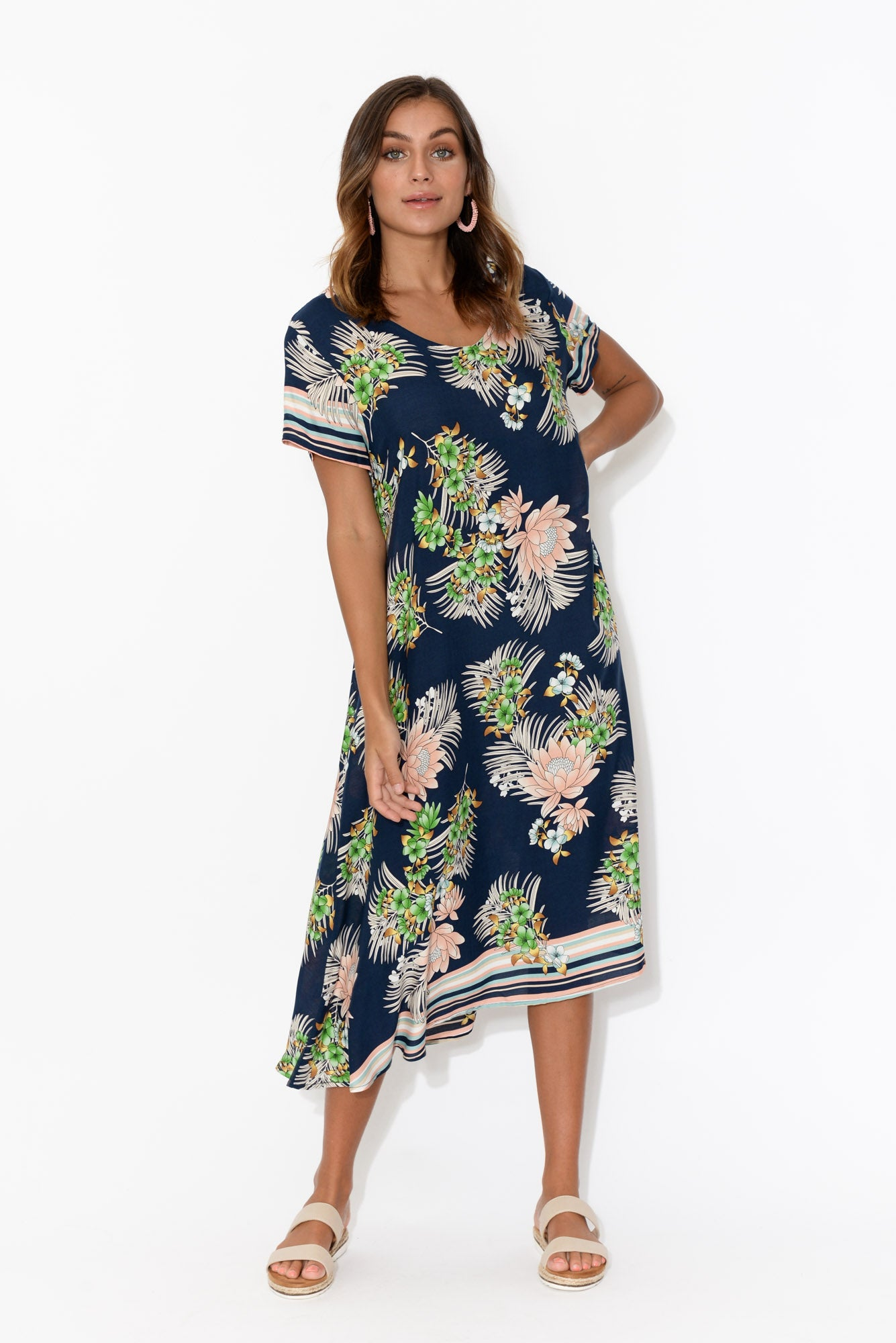 June Frangipani Swing Dress