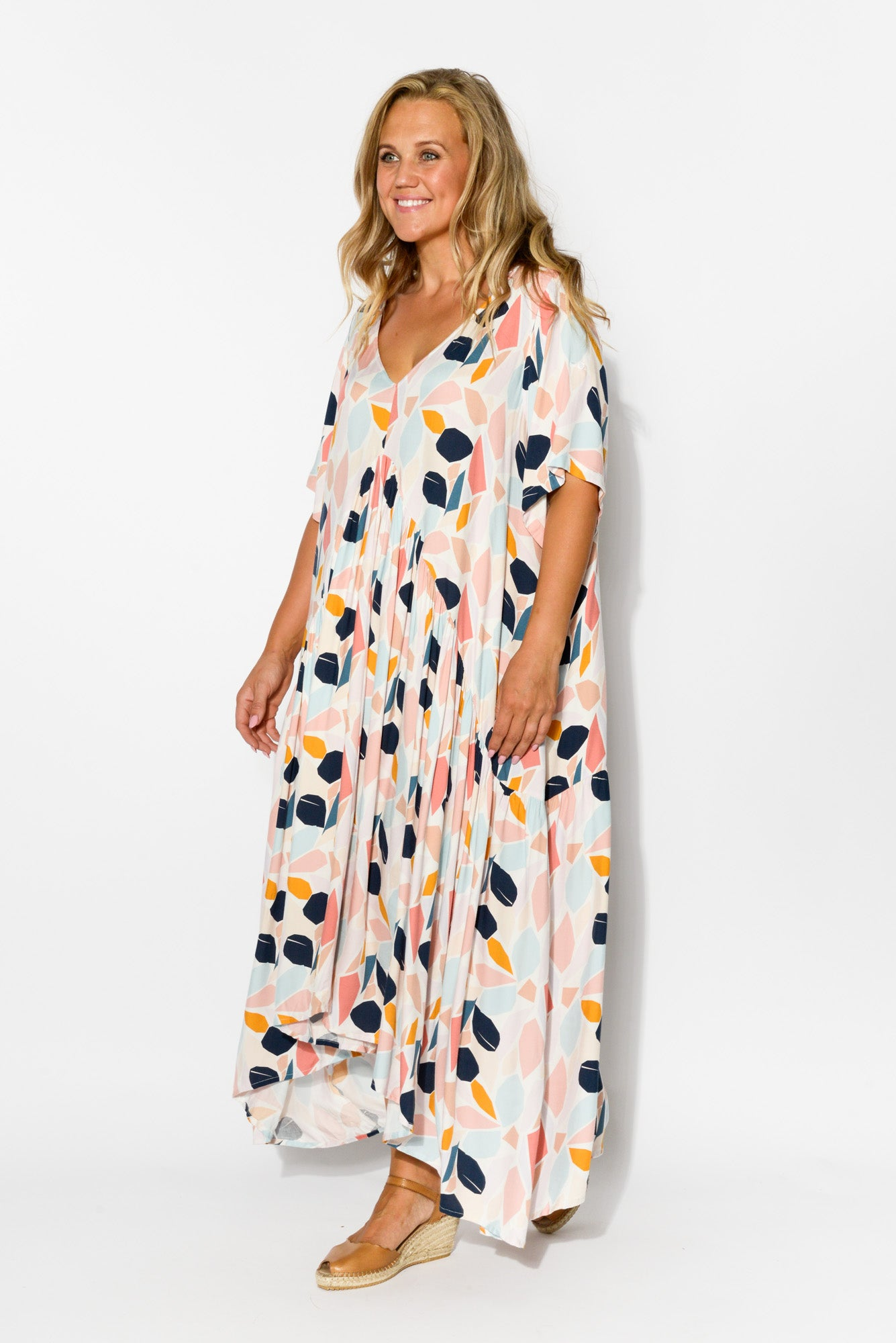 Pastel Peak Maxi Dress - Blue Bungalow