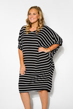 Freya Black Stripe Batwing Dress - Blue Bungalow