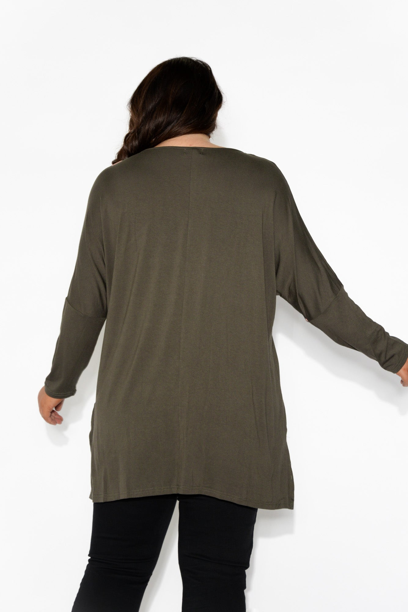 Karlie Khaki Spot Long Sleeved Top