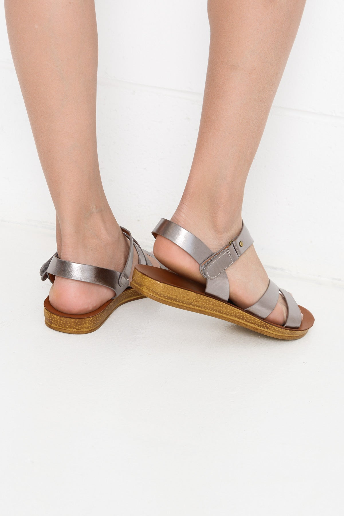 Kent Pewter Sandal - Blue Bungalow