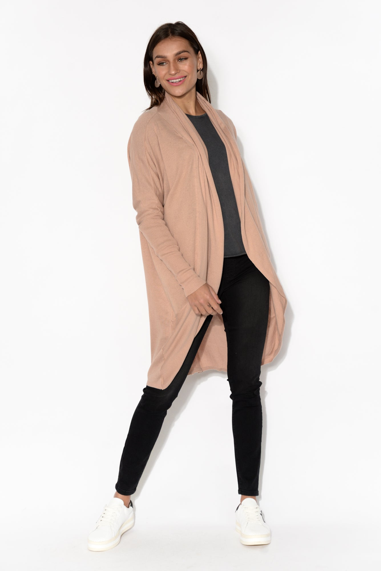 Kenzie Blush Long Sleeve Cotton Cardigan
