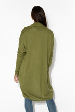 Kenzie Olive Long Sleeve Cotton Cardigan